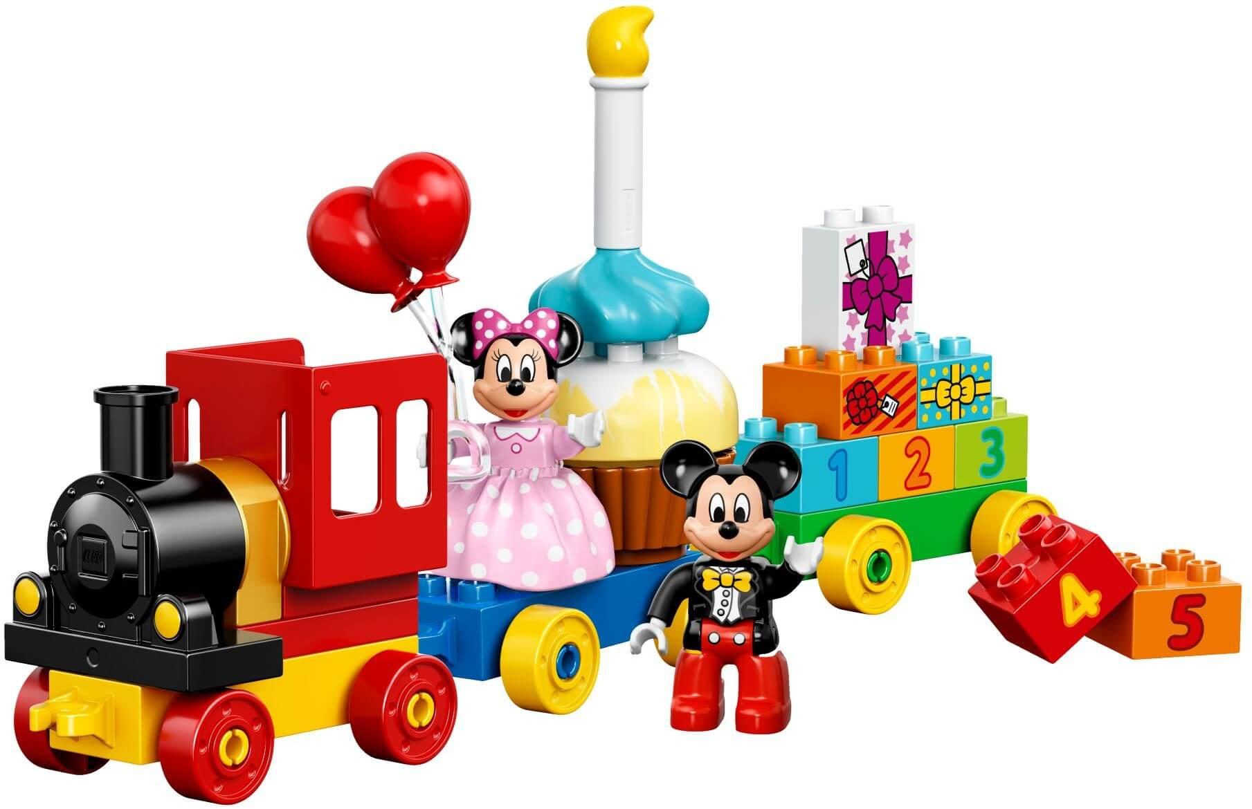 Mua đồ chơi LEGO 10597 - LEGO DUPLO 10597 - Xe lửa sắc màu của chuột Mickey và chuột Minnie (LEGO DUPLO Mickey and Minnie Birthday Parade 10597)