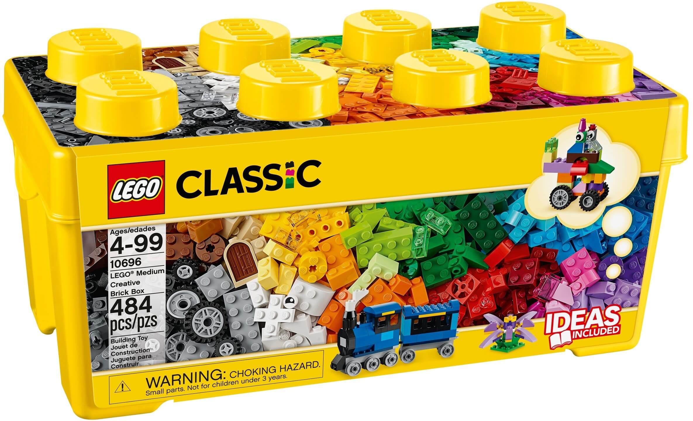 Mua đồ chơi LEGO 10696 - LEGO Classic 10696 - Thùng gạch sáng tạo lớn 484 mảnh ghép (LEGO Classic Medium Creative Brick Box 10696)