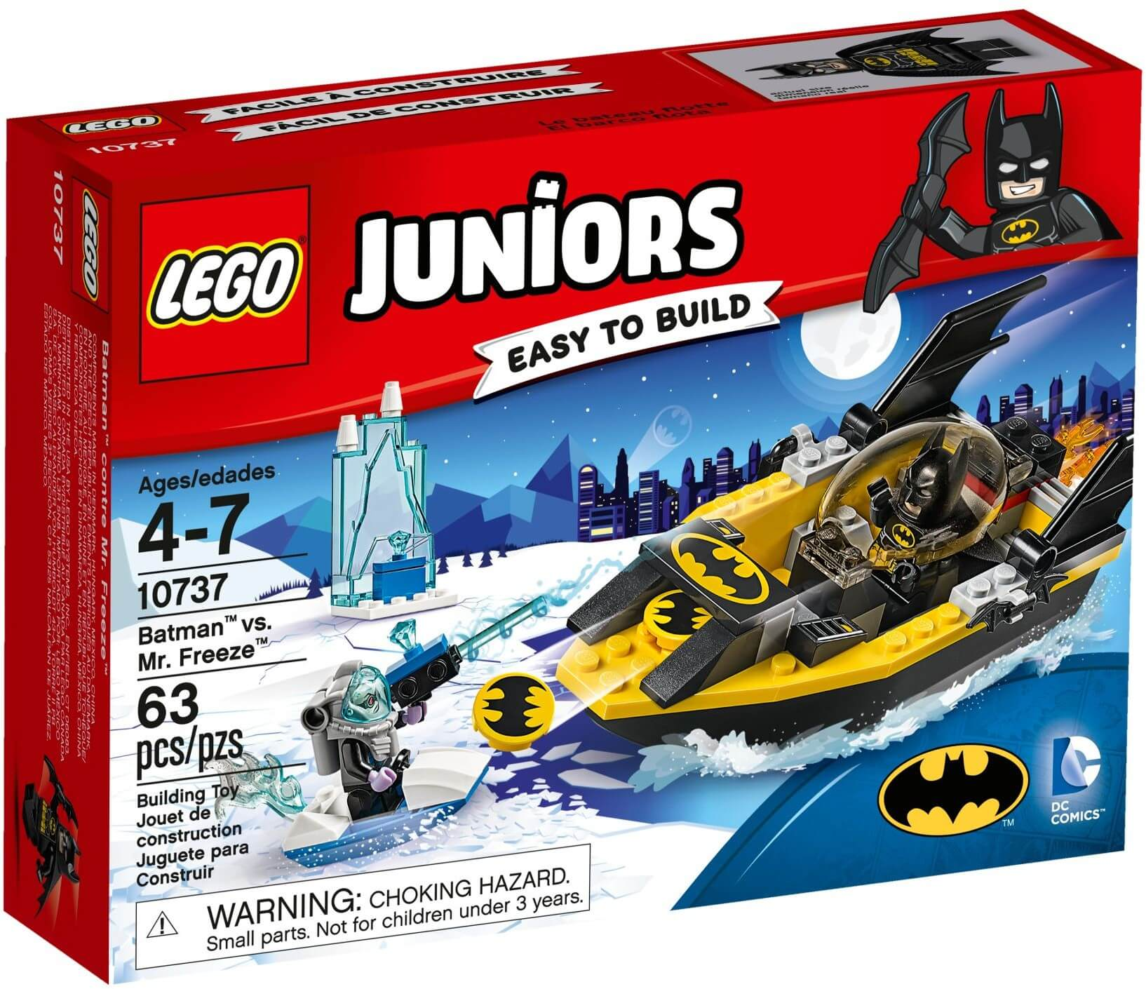 Mua đồ chơi LEGO 10737 - LEGO Juniors 10737 - Batman đại chiến Mr. Freeze (LEGO 10737 Batman vs. Mr. Freeze)