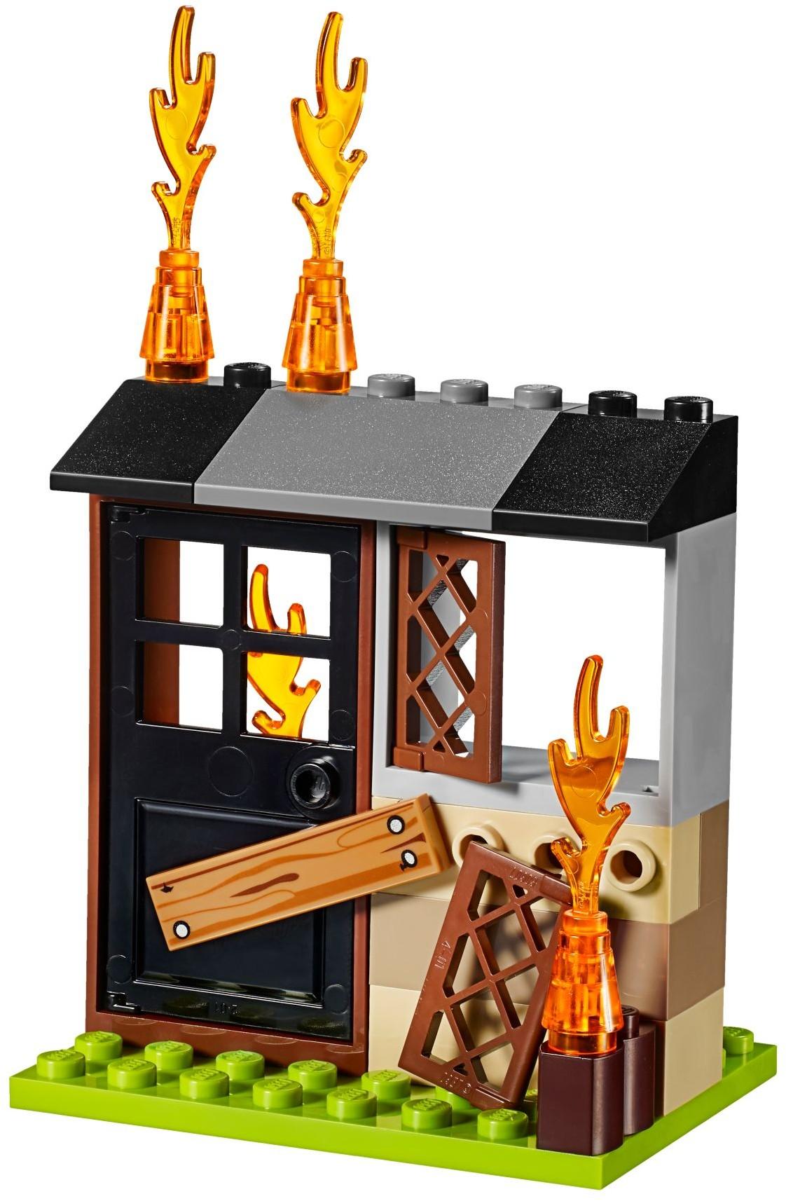 Mua đồ chơi LEGO 10740 - LEGO Juniors 10740 - Cặp Xách Ráp Xe Cứu Hỏa (LEGO Juniors Fire Patrol Suitcase 10740)