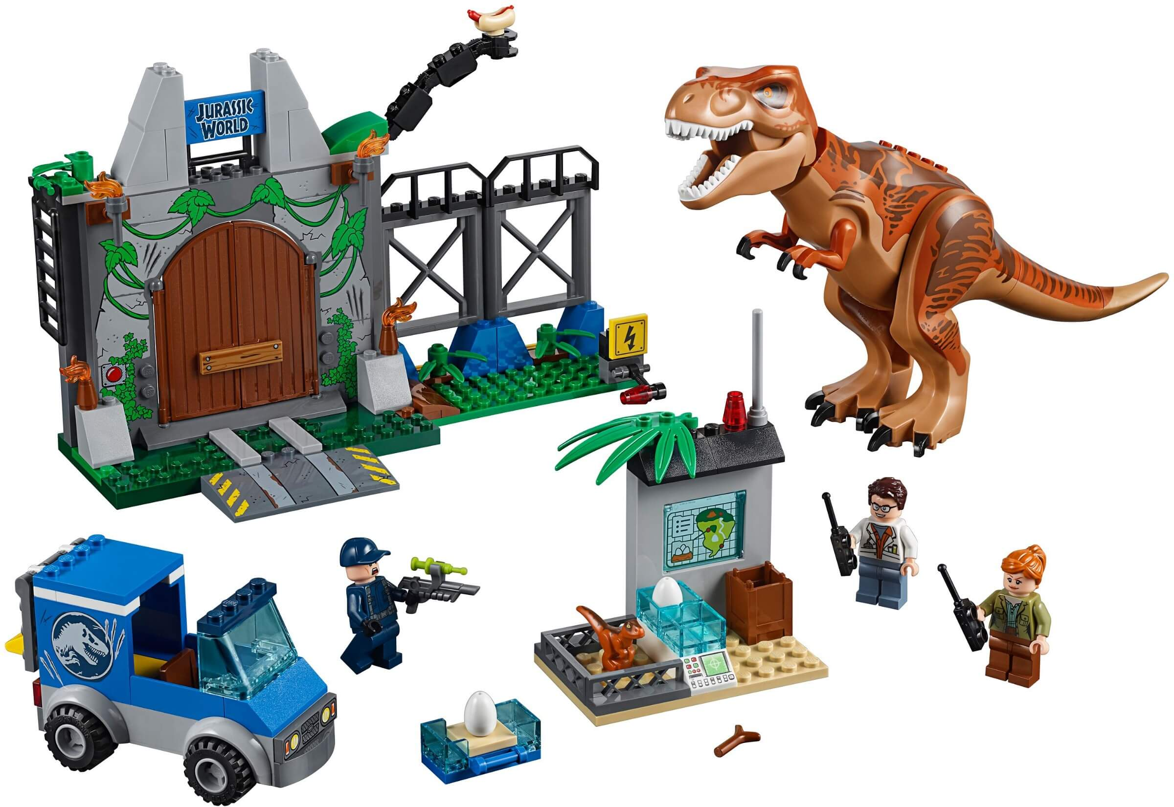 Mua đồ chơi LEGO 10758 - LEGO Khủng Long Jurassic World 10758 - Khủng Long Bạo Chúa T. rex Sổng Chuồng (LEGO Juniors 10758 T. rex Breakout)