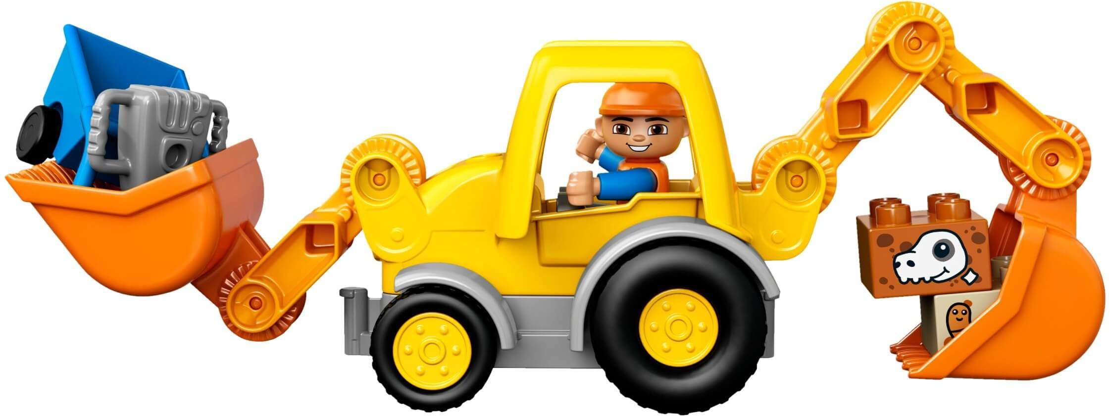 Mua đồ chơi LEGO 10811 - LEGO DUPLO 10811 - Xe Ủi của Bé (LEGO DUPLO Backhoe Loader 10811)