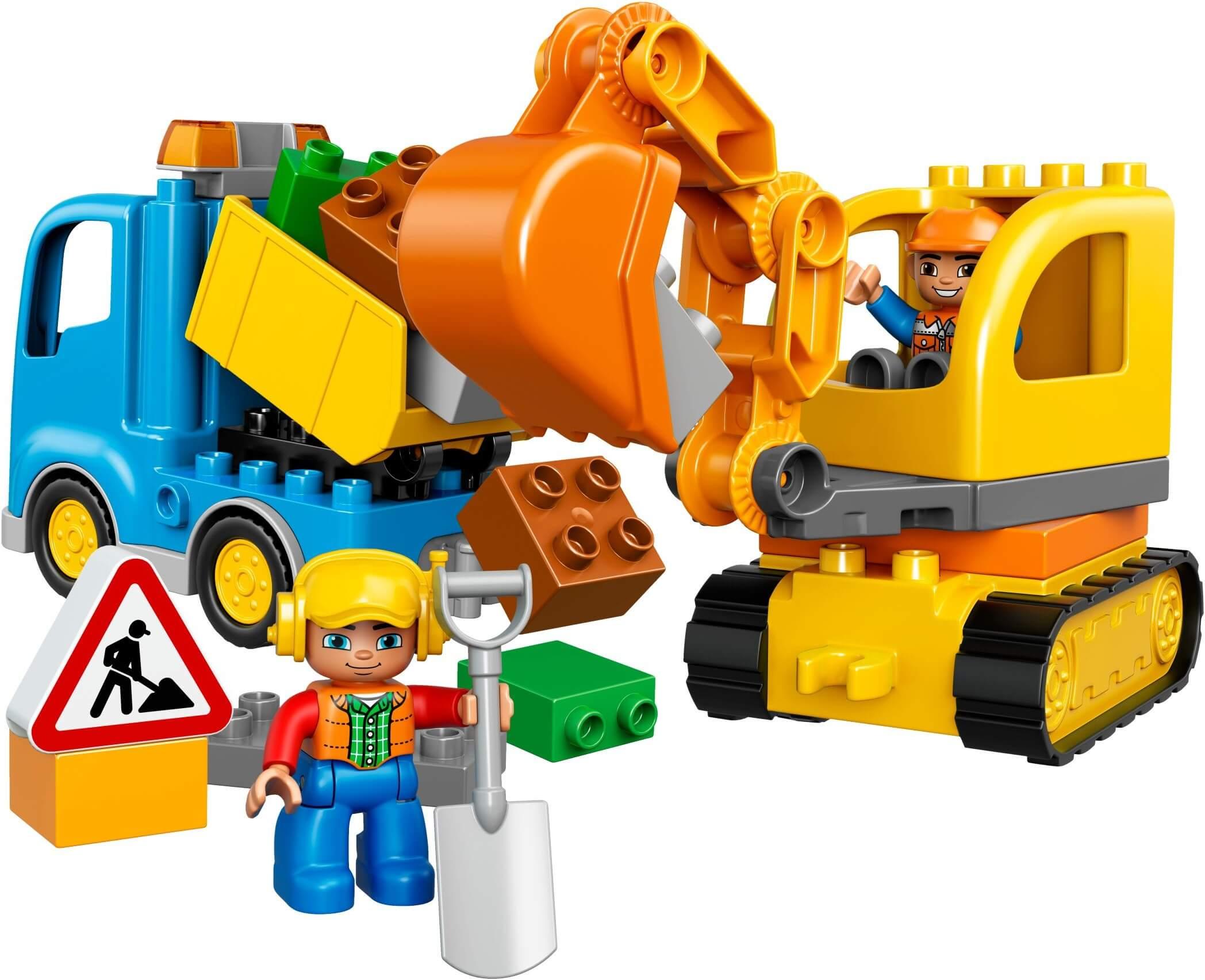 Mua đồ chơi LEGO 10812 - LEGO DUPLO 10812 - Xe Tải và Xe Ủi của Bé (LEGO DUPLO Truck & Tracked Excavator 10812)