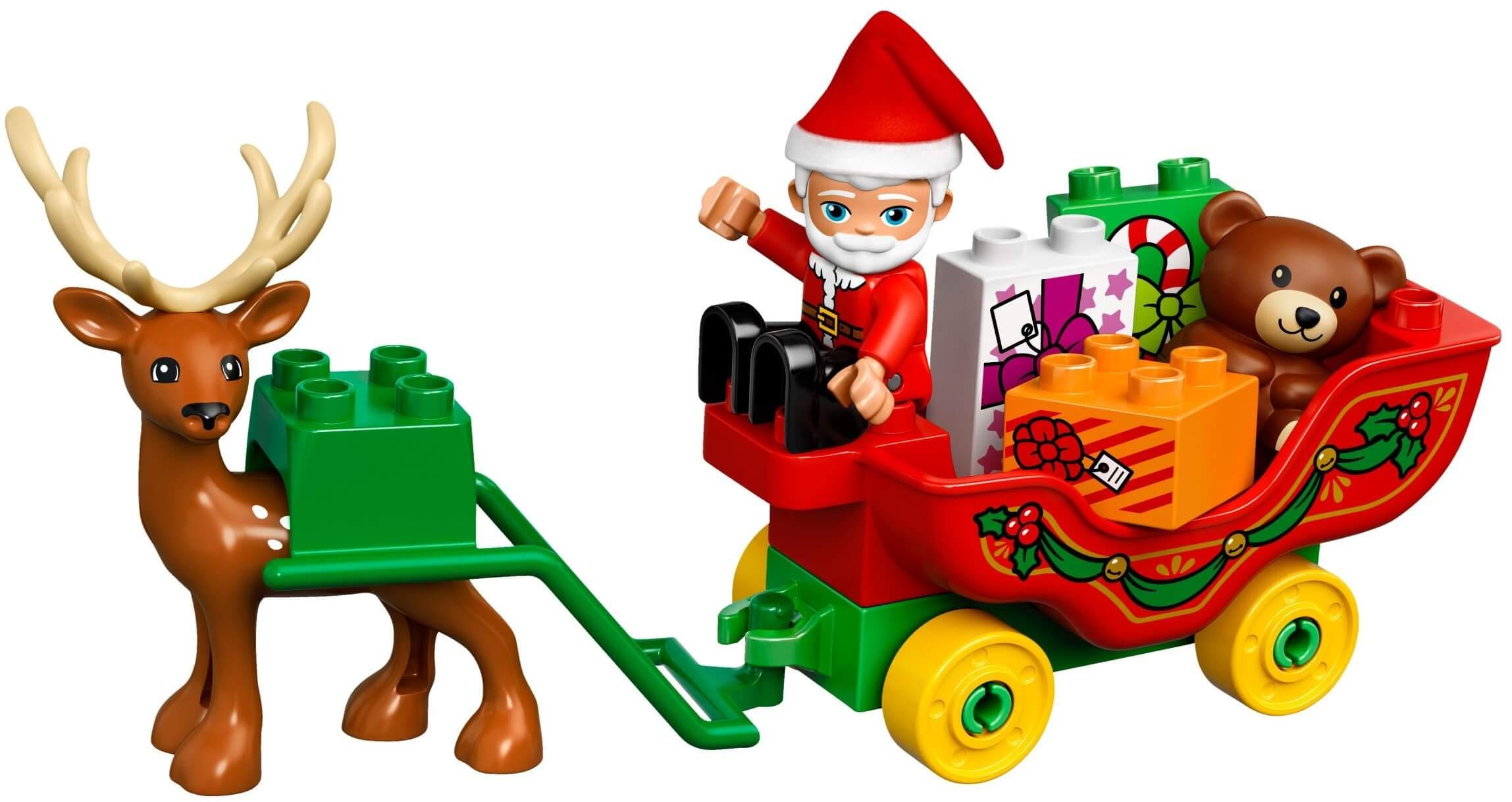 Mua đồ chơi LEGO 10837 - LEGO Duplo 10837 - Ông Già Noel và Cỗ Xe Tuần Lộc (LEGO Duplo Santa's Winter Holiday)