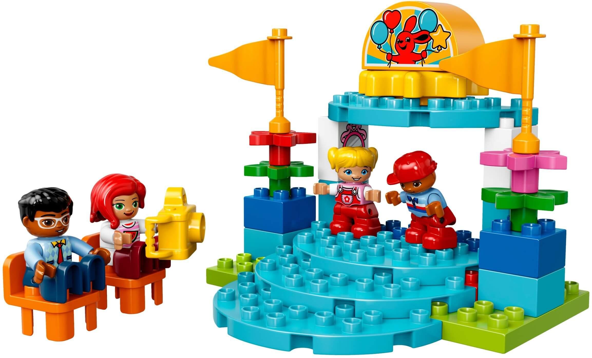 Mua đồ chơi LEGO 10841 - LEGO Duplo 10841 - Trò Chơi Đu Quay và Bán Quán (LEGO Duplo Fun Family Fair)