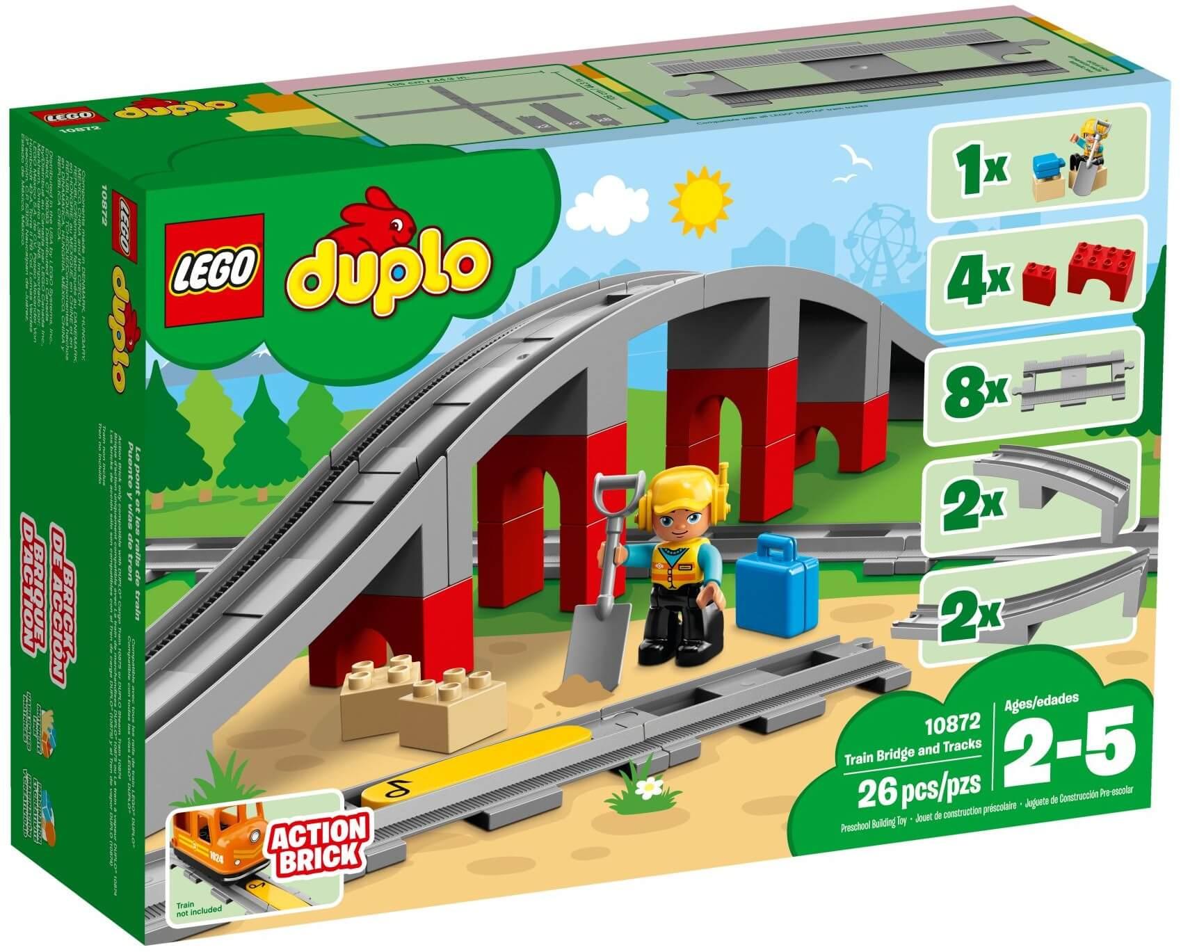 Mua đồ chơi LEGO 10872 - LEGO Duplo 10872 - Bộ Đường Ray Xe Lửa và Cầu (LEGO 10872 Train Bridge and Tracks)