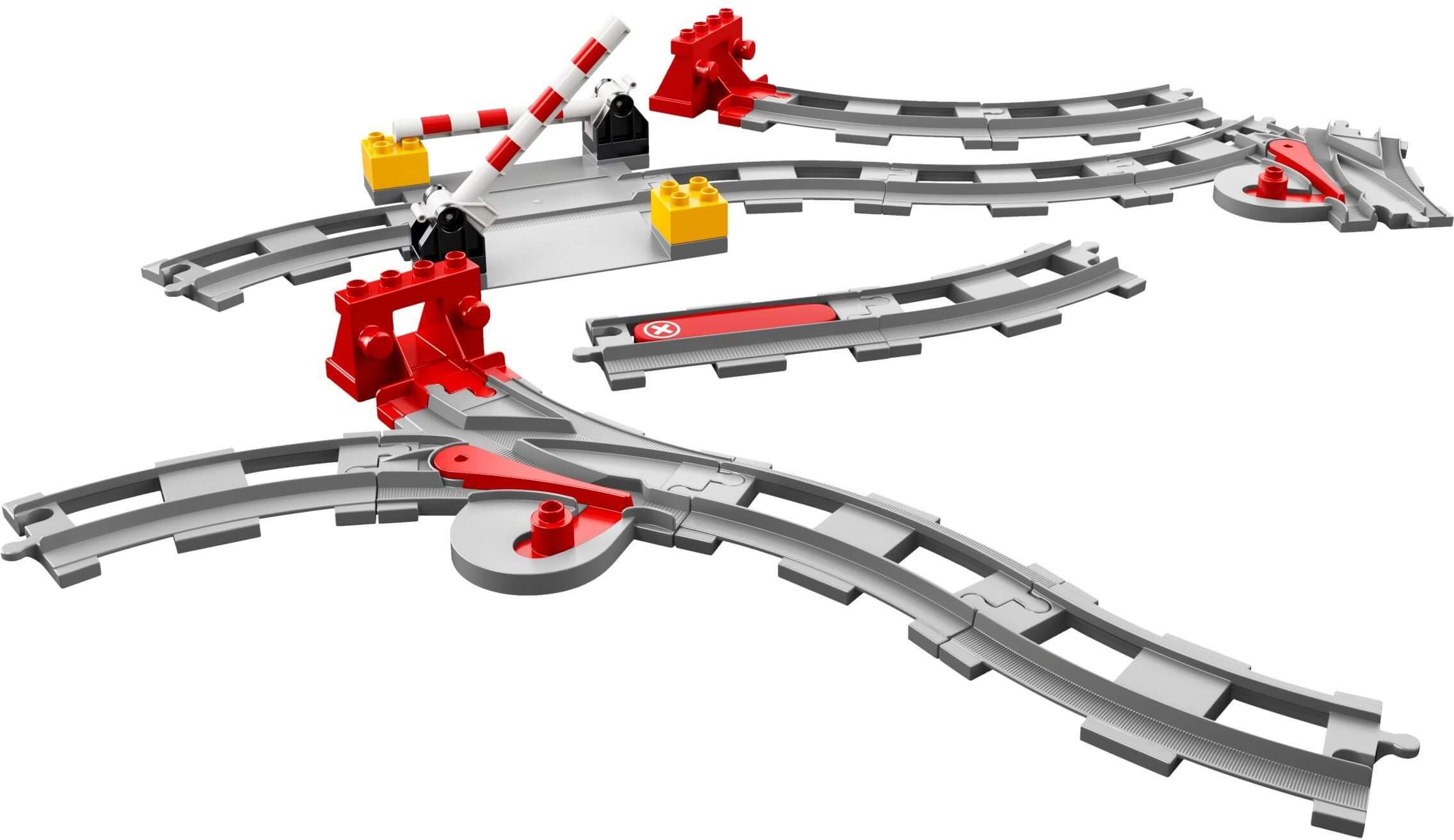 Mua đồ chơi LEGO 10882 - LEGO Duplo 10882 - Bộ Đường Ray Xe Lửa và thanh chắn (LEGO 10882 Train Tracks)