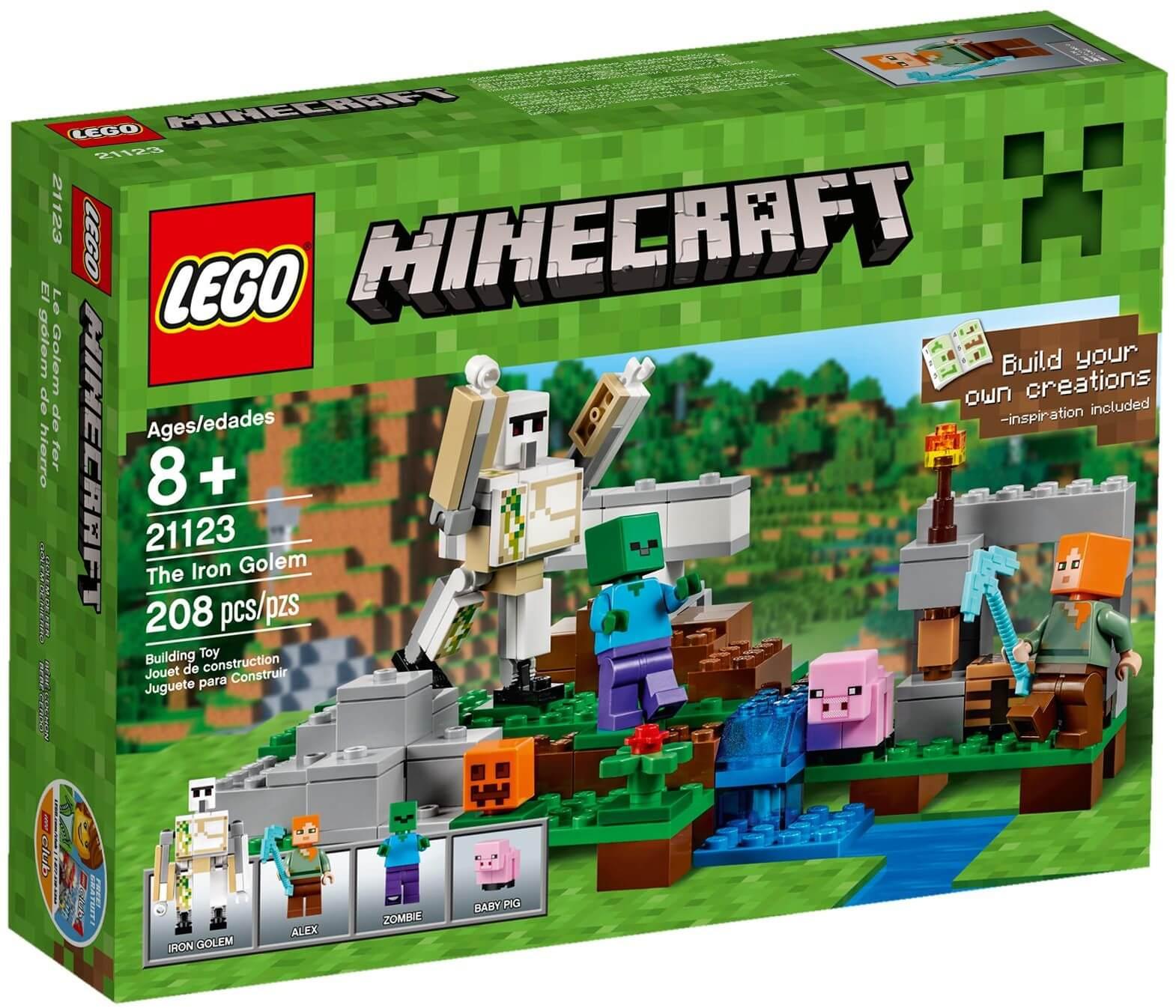 Mua đồ chơi LEGO 21123 - LEGO Minecraft 21123 - Golem Sắt Khổng Lồ của Alex (LEGO Minecraft The Iron Golem 21123)
