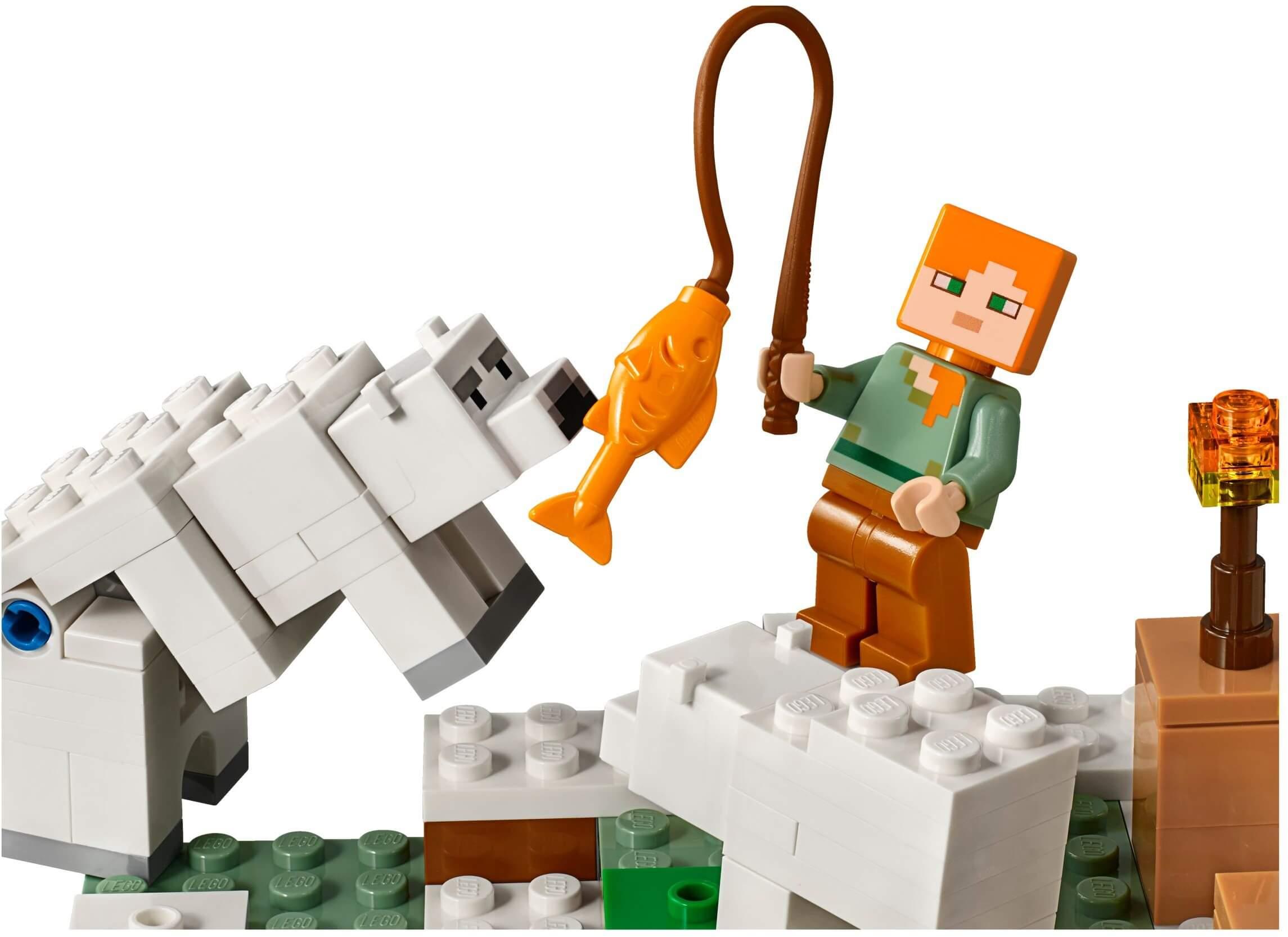 Mua đồ chơi LEGO 21142 - LEGO Minecraft 21142 - Ngôi Nhà Tuyết của Alex (LEGO Minecraft 21142 The Polar Igloo)