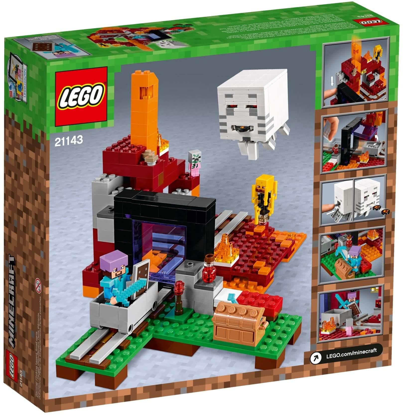 Mua đồ chơi LEGO 21143 - LEGO Minecraft 21143 - Cánh Cổng Địa Ngục (LEGO Minecraft 21143 The Nether Portal)