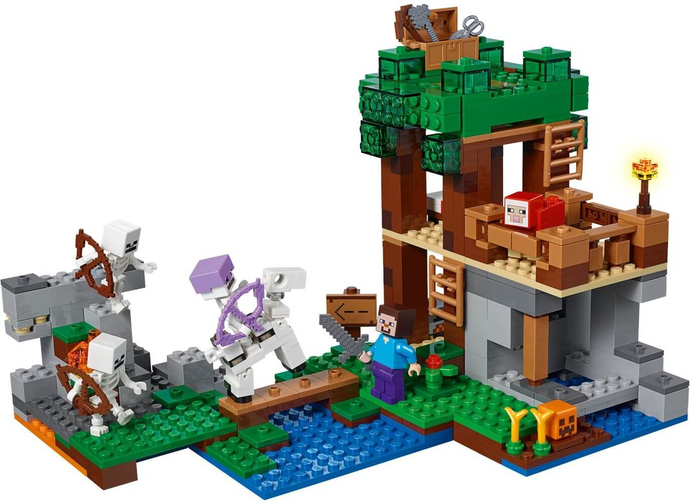 Mua đồ chơi LEGO 21146 - LEGO Minecraft 21146 - Người Xương tấn công Pháo Đài của Steve (LEGO 21146 The Skeleton Attack)