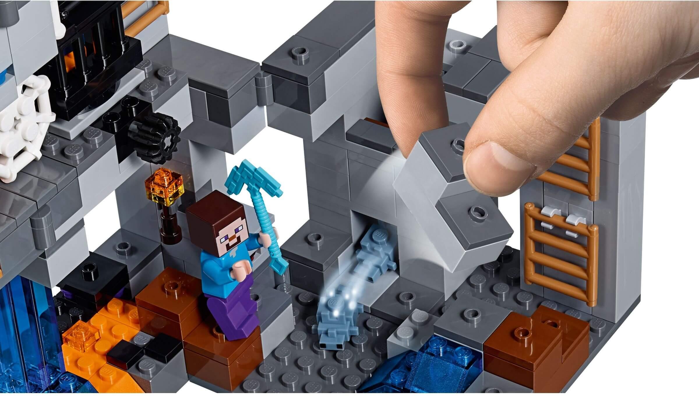 Mua đồ chơi LEGO 21147 - LEGO Minecraft 21147 - Cuộc Thám Hiểm dưới Lòng Đất (LEGO 21147 The Bedrock Adventures)