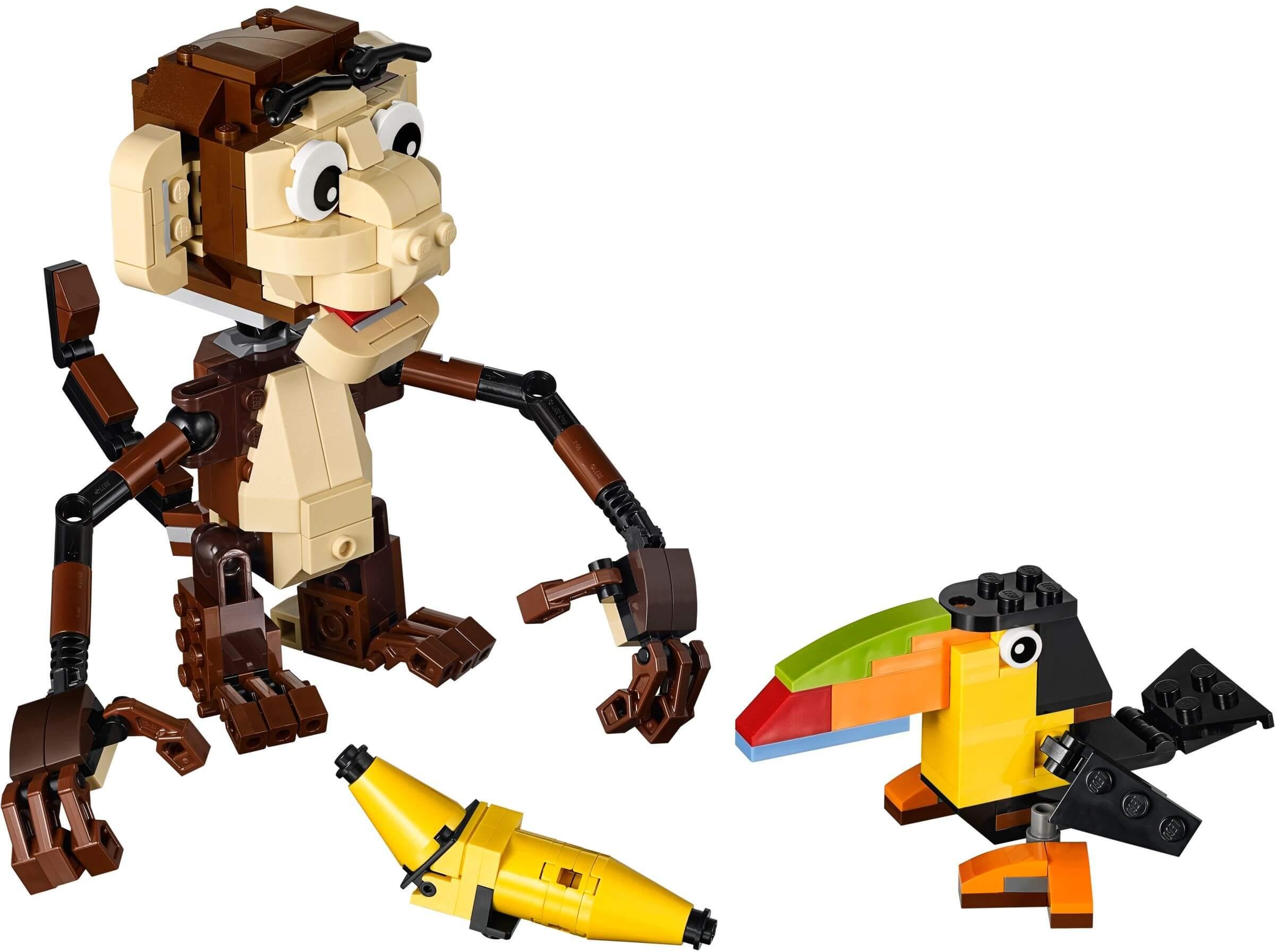 Mua đồ chơi LEGO 31019 - LEGO Creator 31019 - Mô hình Khỉ con - Gấu con - Sóc con 3-trong-1 (LEGO Creator Forest Animals 31019)