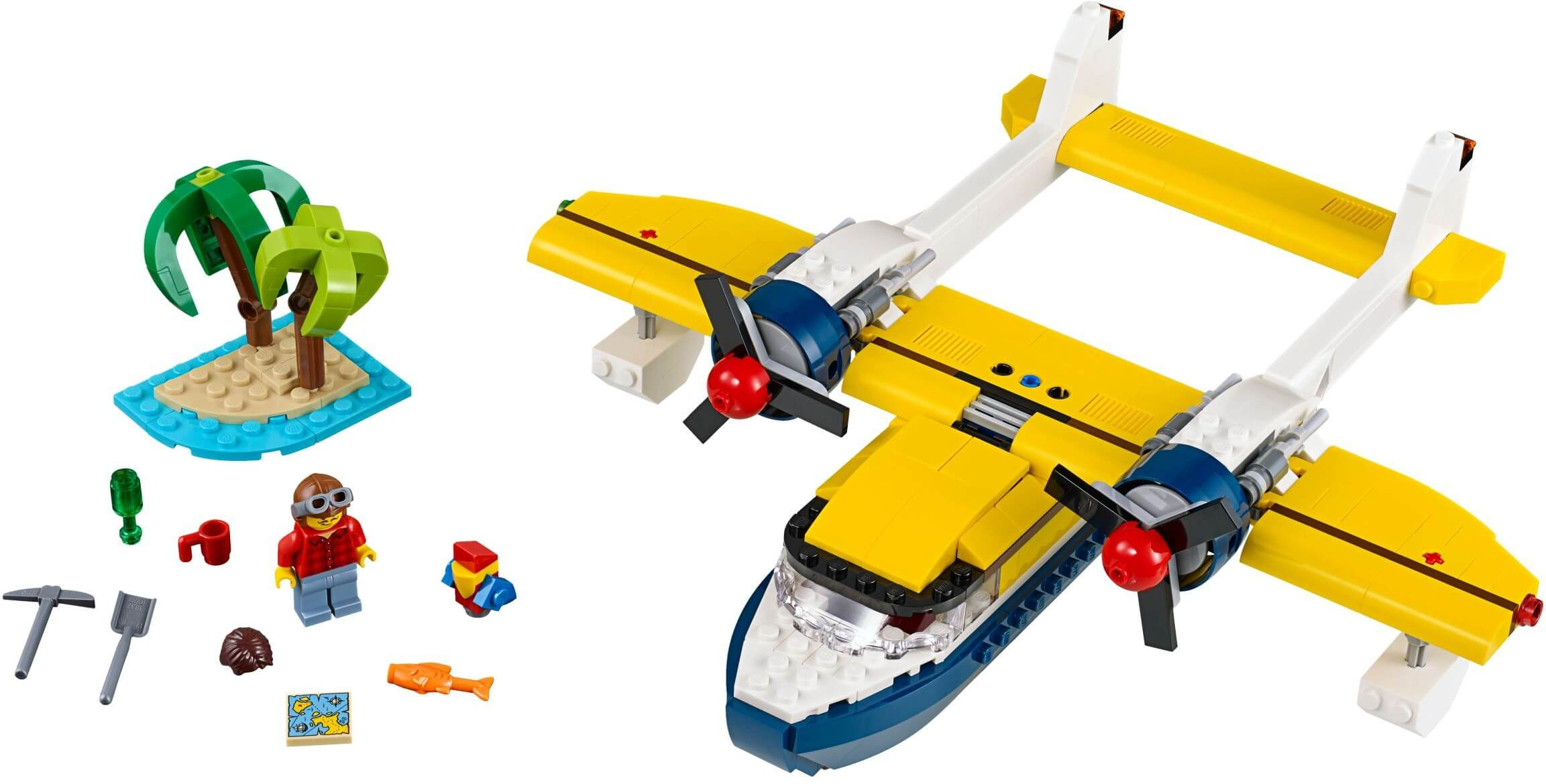 Mua đồ chơi LEGO 31064 - LEGO Creator 31064 - Mô Hình Máy Bay - Nhà - Tàu Thủy 3-trong-1 (LEGO 31064 Island Adventures)