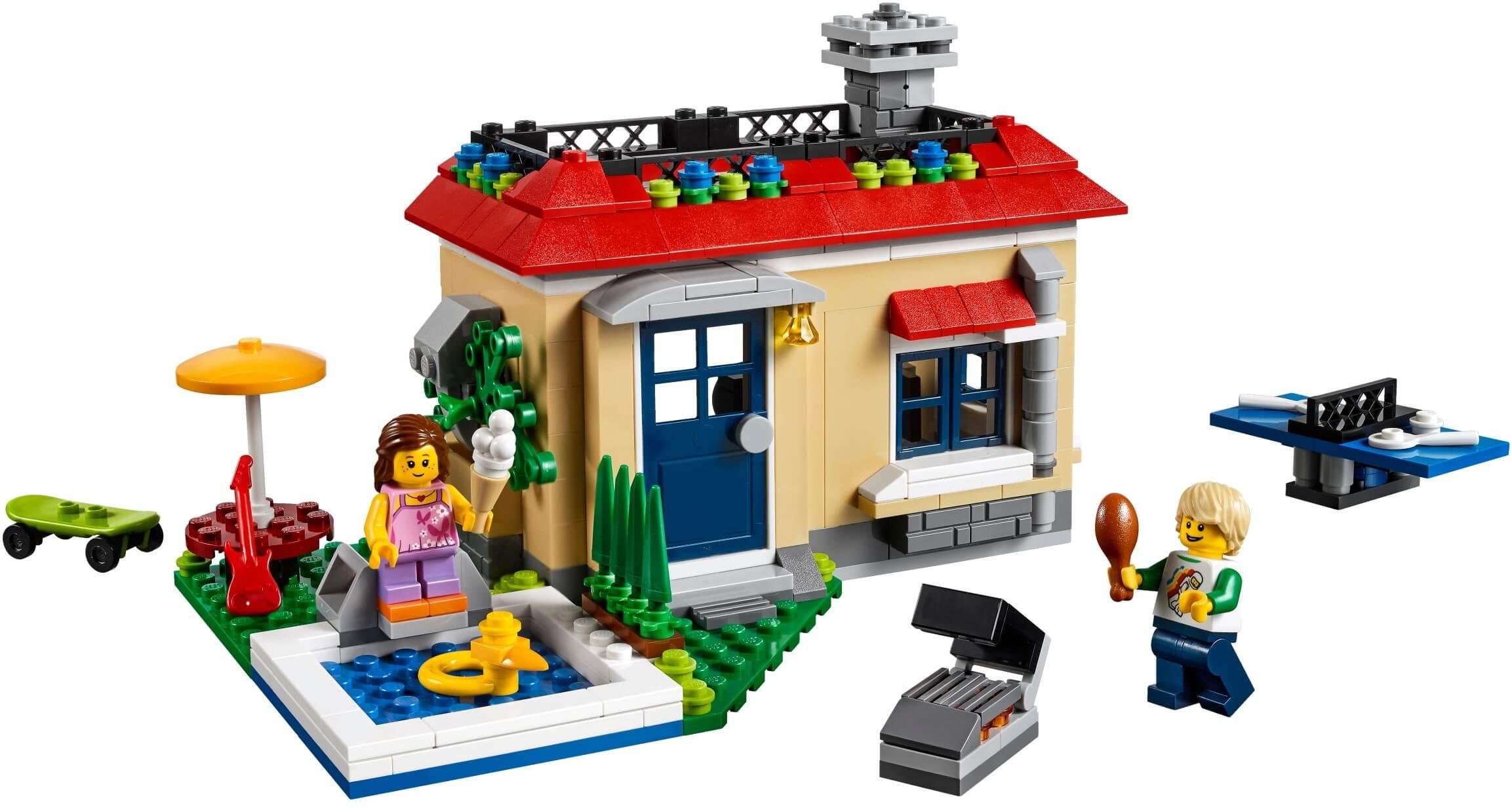 Mua đồ chơi LEGO 31067 - LEGO Creator 31067 - Bộ Xếp Hình Ngôi Nhà Trò Chơi 3-trong-1 (LEGO Creator Modular Poolside Holiday)