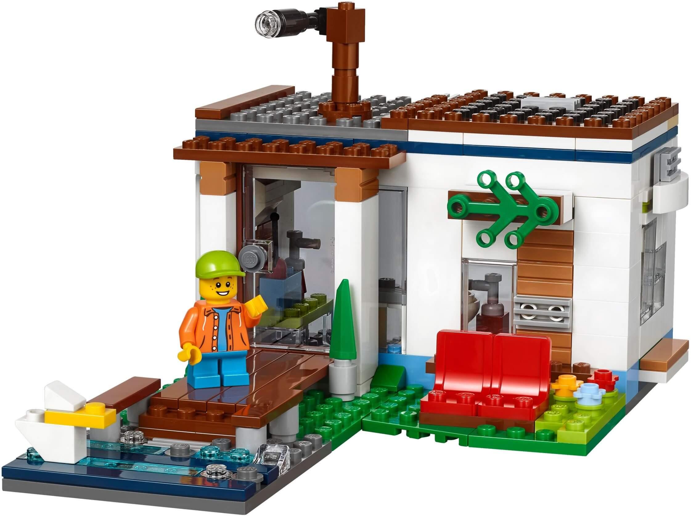 Mua đồ chơi LEGO 31068 - LEGO Creator 31068 - Mô hình Nhà Khối Hiện Đại 3-trong-1 (LEGO Creator Modular Modern Home)