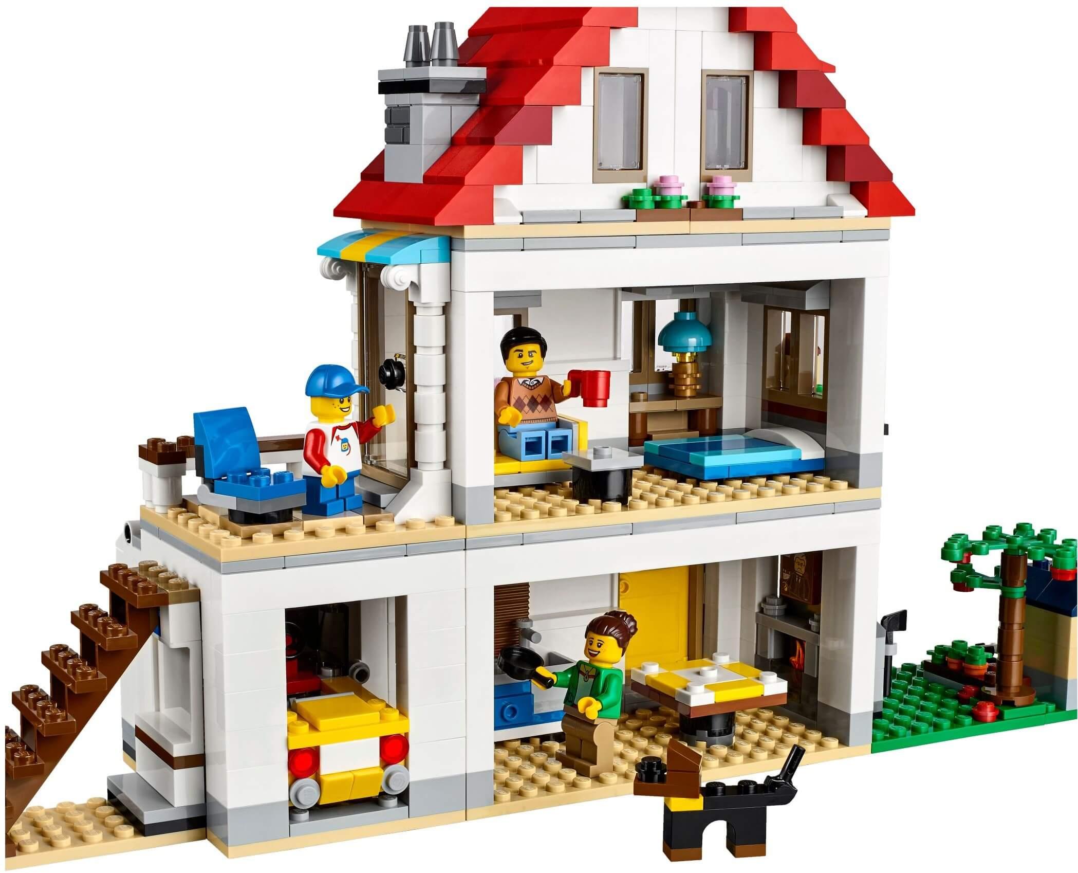 Mua đồ chơi LEGO 31069 - LEGO Creator 31069 - Biệt Thự Gia Đình 3-trong-1 (LEGO Creator Modular Family Villa)