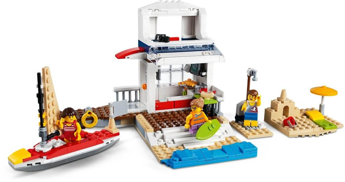 Mua đồ chơi LEGO 31083 - LEGO Creator 31083 - Bộ xếp hình Du Thuyền - Máy Bay - Ngọn Hải Đăng 3-trong-1 (LEGO 31083 Cruising Adventures)