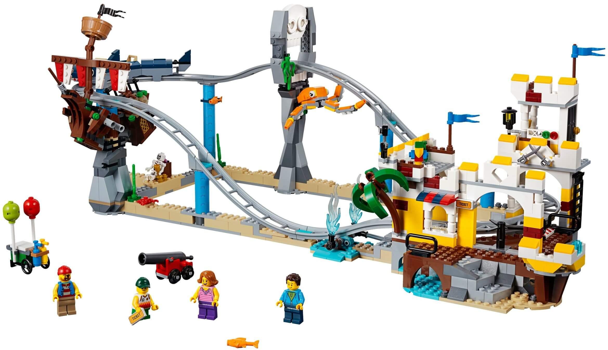 Mua đồ chơi LEGO 31084 - LEGO Creator 31084 - Xếp hình Tàu Lượn Siêu Tốc Cướp Biển 3-trong-1