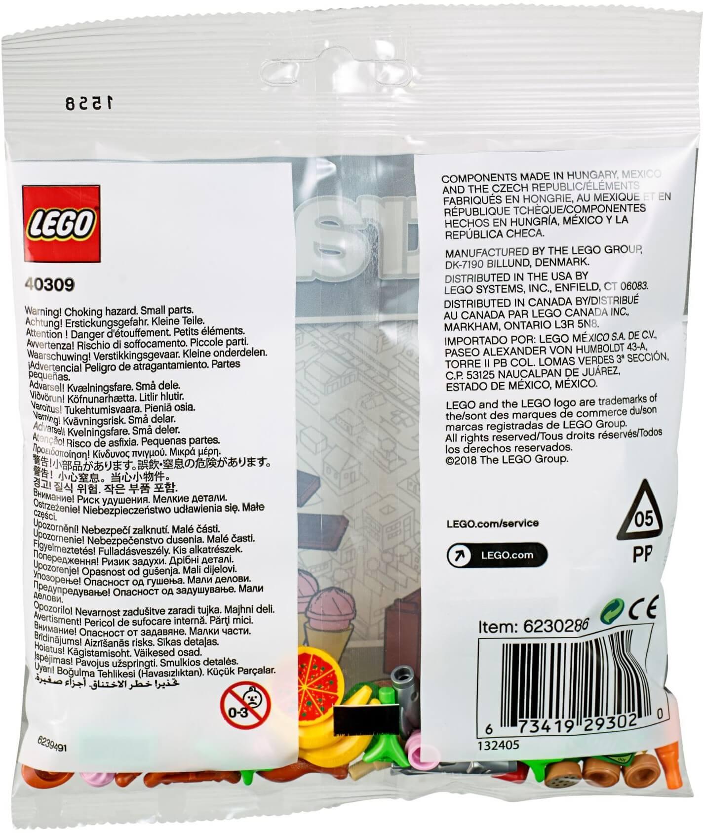 Mua đồ chơi LEGO 40309 - LEGO City 40309 - Bộ Xếp hình Thức Ăn (LEGO 40309 Food Accessories)