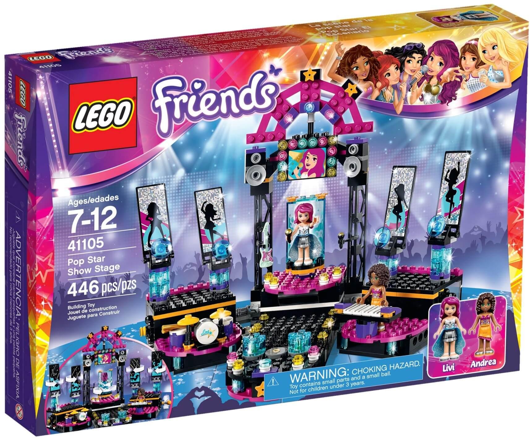 Mua đồ chơi LEGO 41105 - LEGO Friends 41105 - Sân Khấu Của Siêu Sao (LEGO Friends Pop Star Show Stage 41105)
