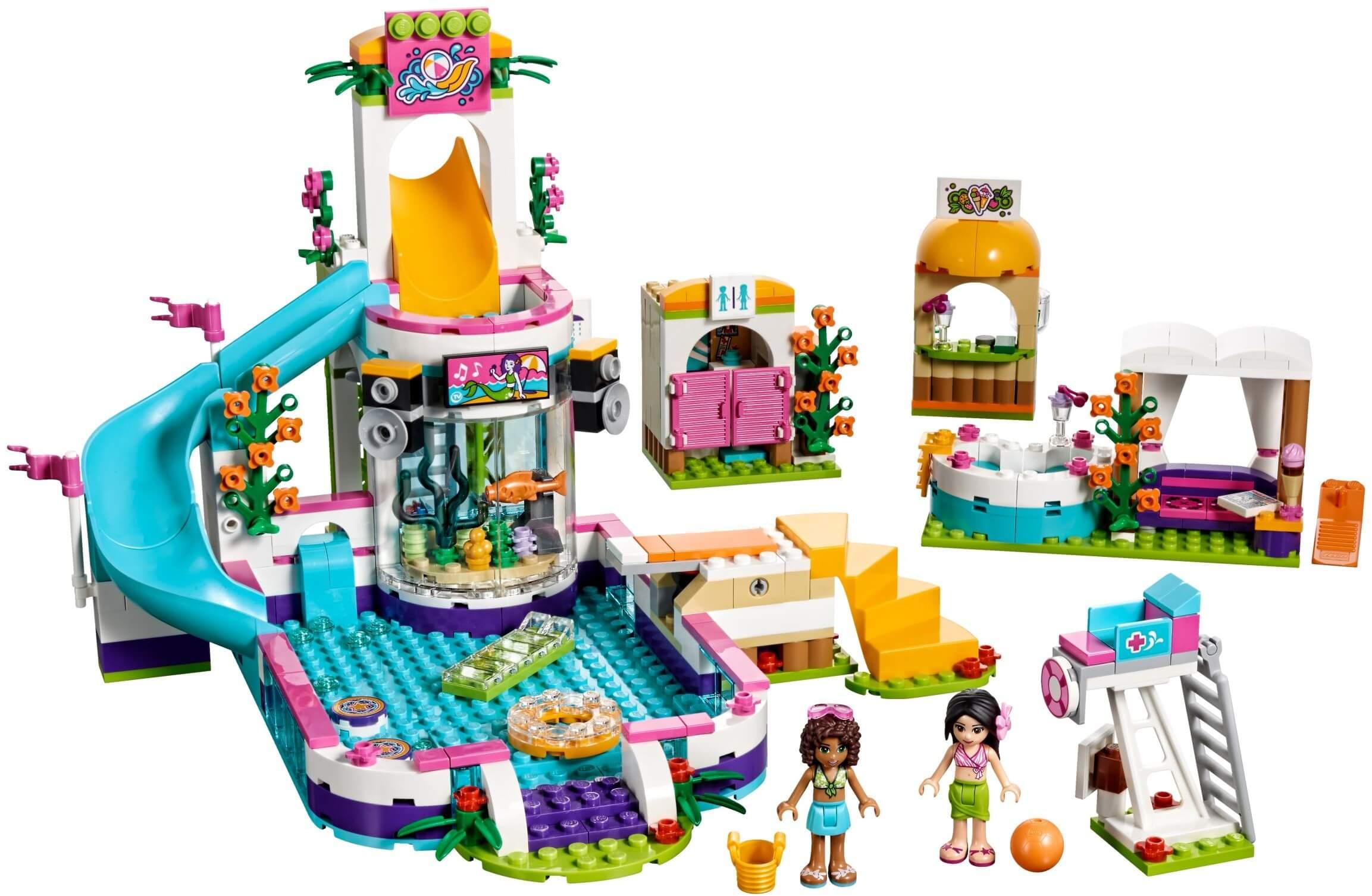 Mua đồ chơi LEGO 41313 - LEGO Friends 41313 - Công Viên Nước Heartlake (LEGO 41313 Heartlake Summer Pool)