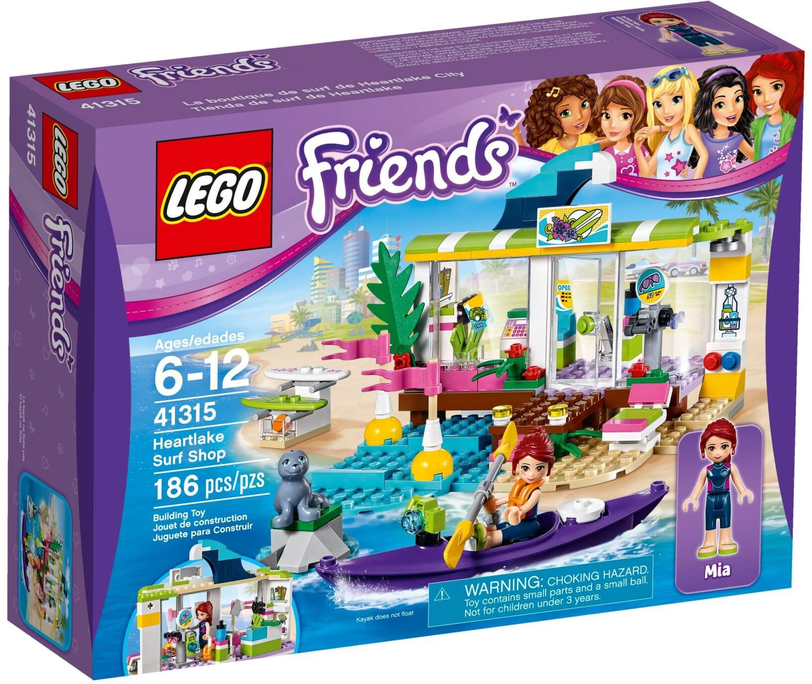 Mua đồ chơi LEGO 41315 - LEGO Friends 41315 - Cửa Hàng Ván Trượt Heartlake (LEGO Friends Heartlake Surf Shop)