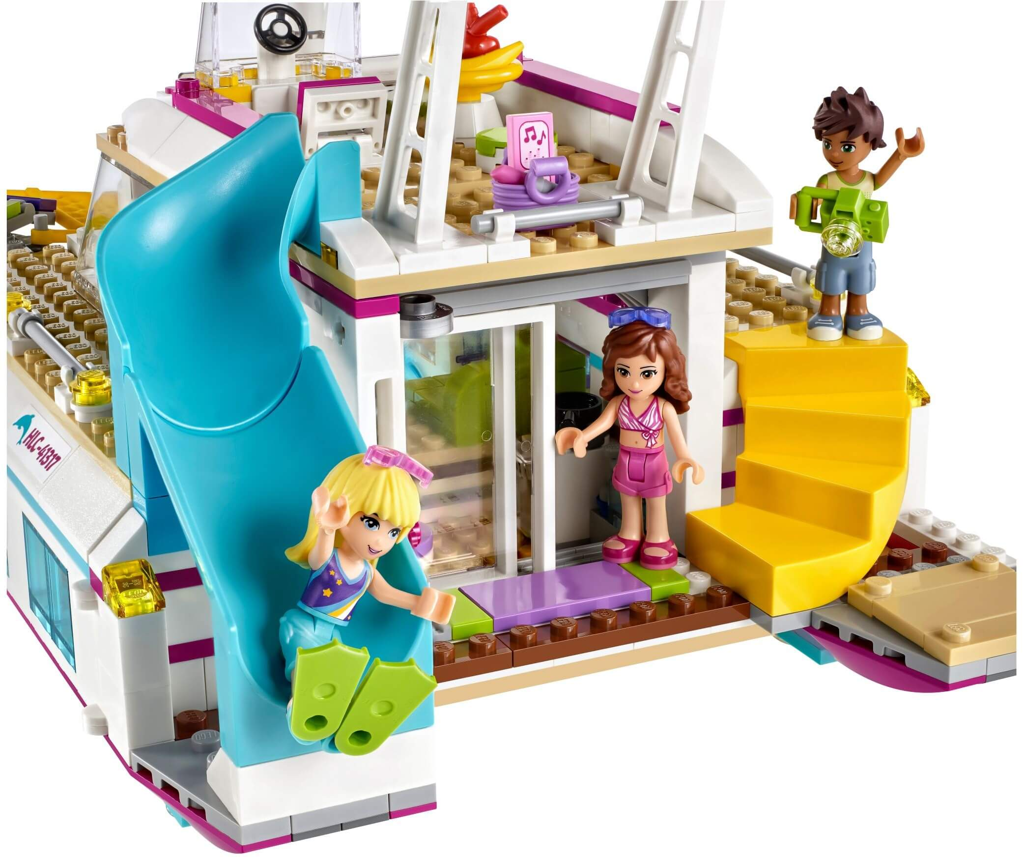 Mua đồ chơi LEGO 41317 - LEGO Friends 41317 - Thuyền Buồm Ánh Dương (LEGO Friends Sunshine Catamaran)