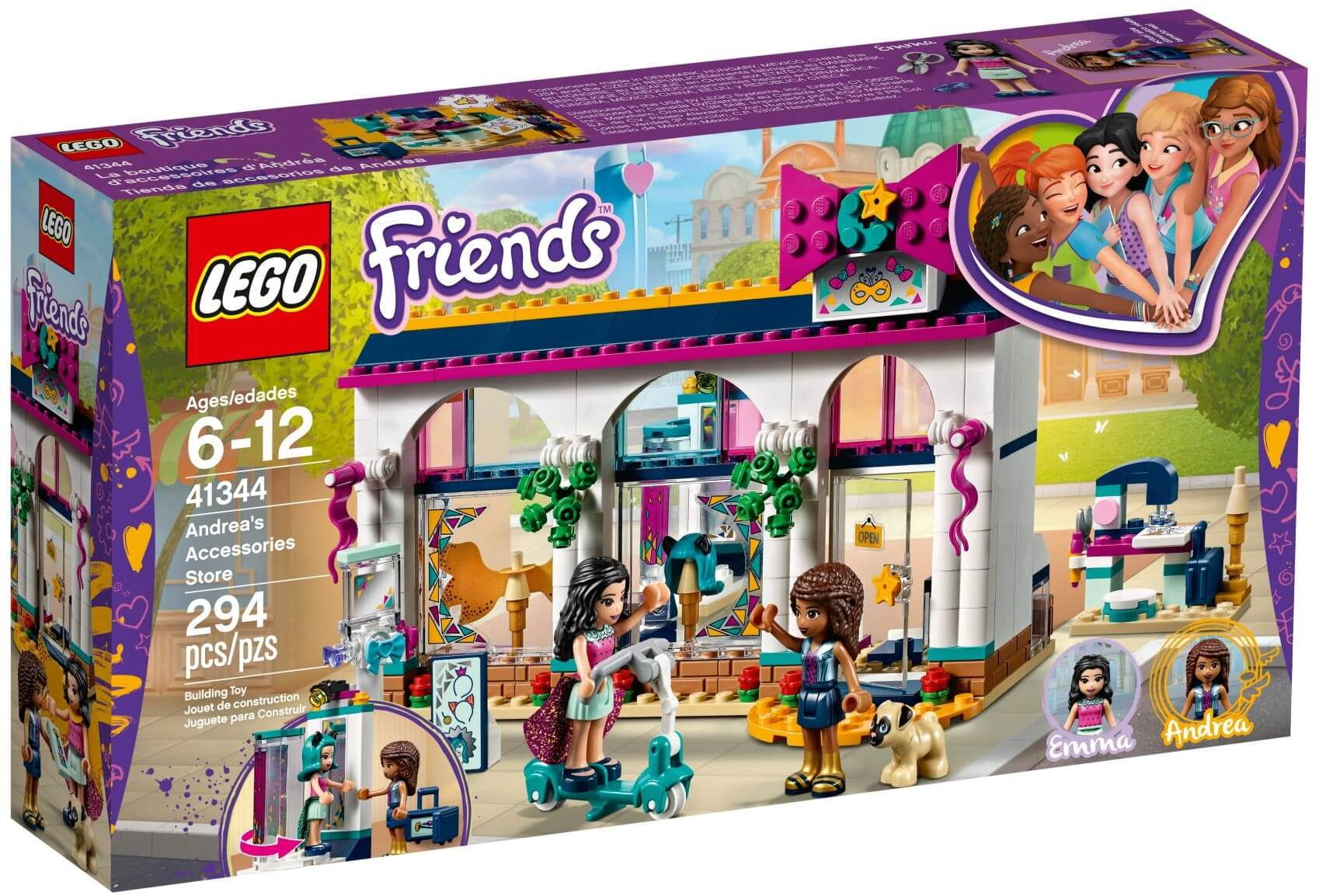 Mua đồ chơi LEGO 41344 - LEGO Friends 41344 - Cửa Hàng Thời Trang của Andrea (LEGO 41344 Andrea's Accessories Store)