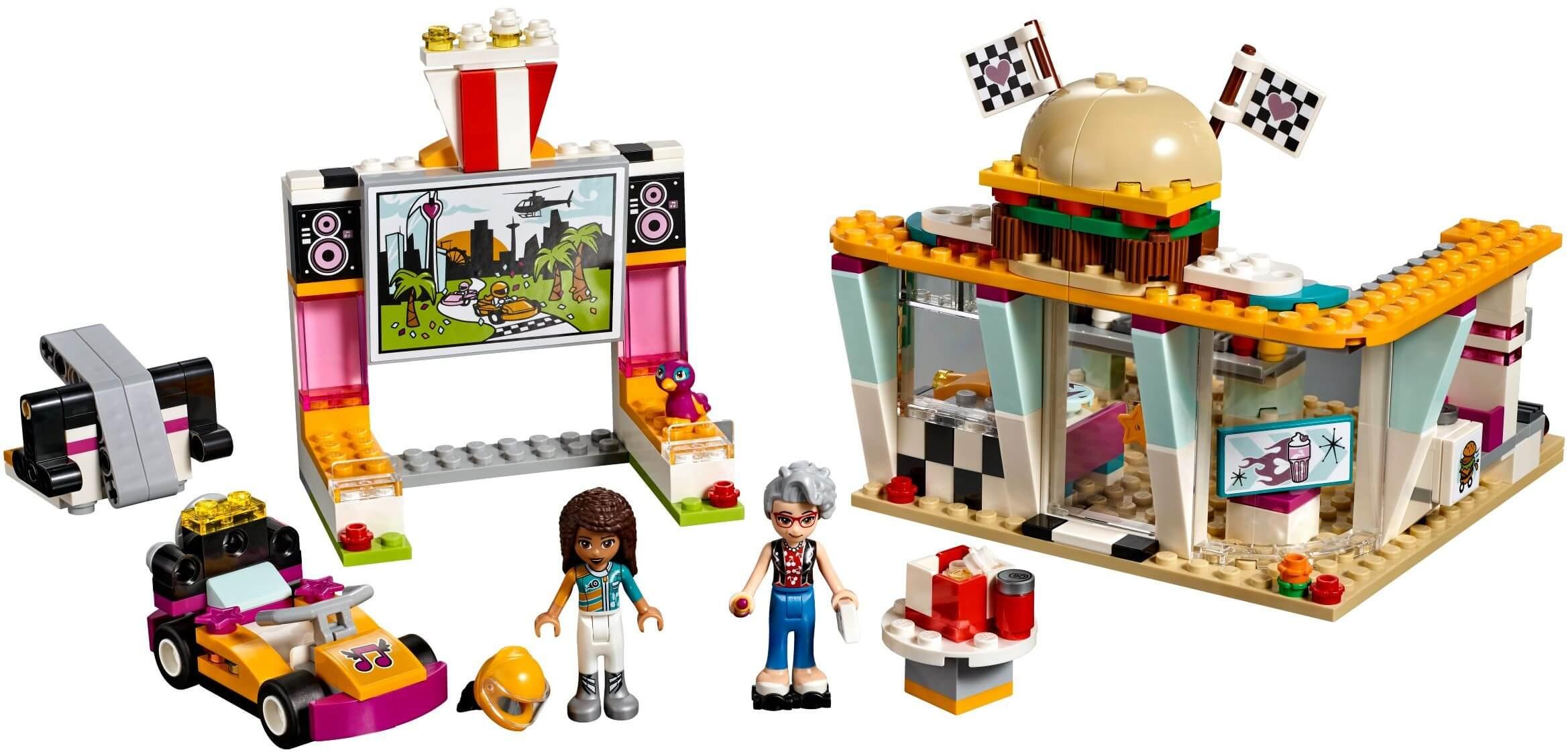 Mua đồ chơi LEGO 41349 - LEGO Friends 41349 - Đội Đua Ăn Mừng Chiến Thắng (LEGO 41349 Drifting Diner)