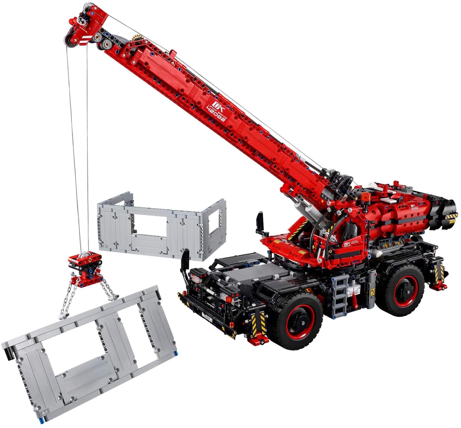 Mua đồ chơi LEGO 42082 - LEGO Technic 42082 - Xe Cẩu Hạng Nặng gắn Động Cơ (LEGO 42082 Rough Terrain Crane)
