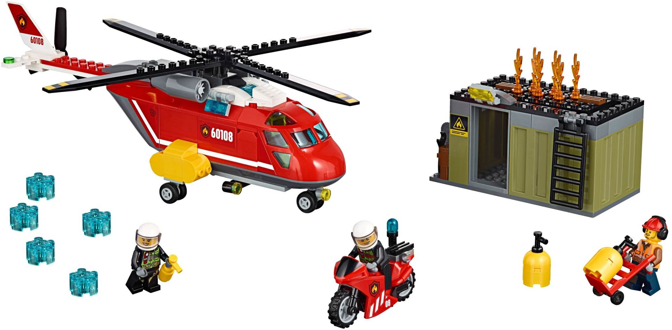 Mua đồ chơi LEGO 60108 - LEGO City 60108 - Trực Thăng Cứu Hỏa (LEGO City Fire Response Unit 60108)
