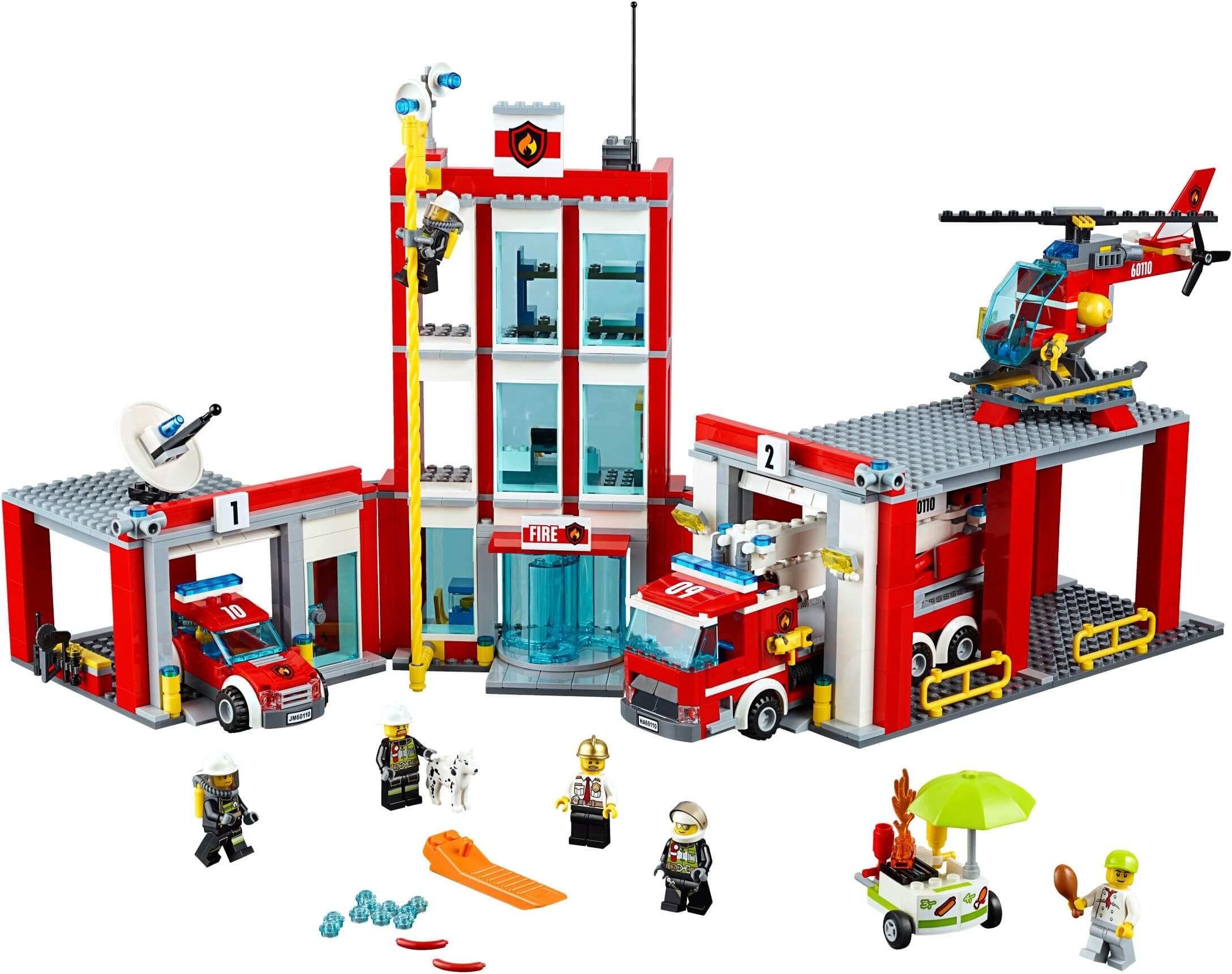 Mua đồ chơi LEGO 60110 - LEGO City 60110 - Trạm cứu hỏa Lớn (LEGO City Fire Station 60110)