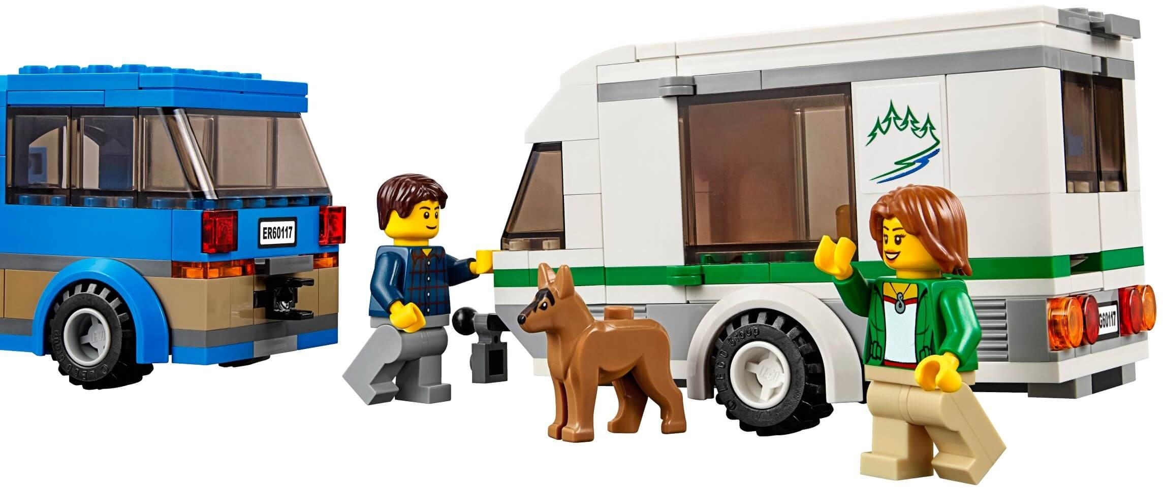 Mua đồ chơi LEGO 60117 - LEGO City 60117 - Xe lưu động dã ngoại (LEGO City Van & Caravan 60117)