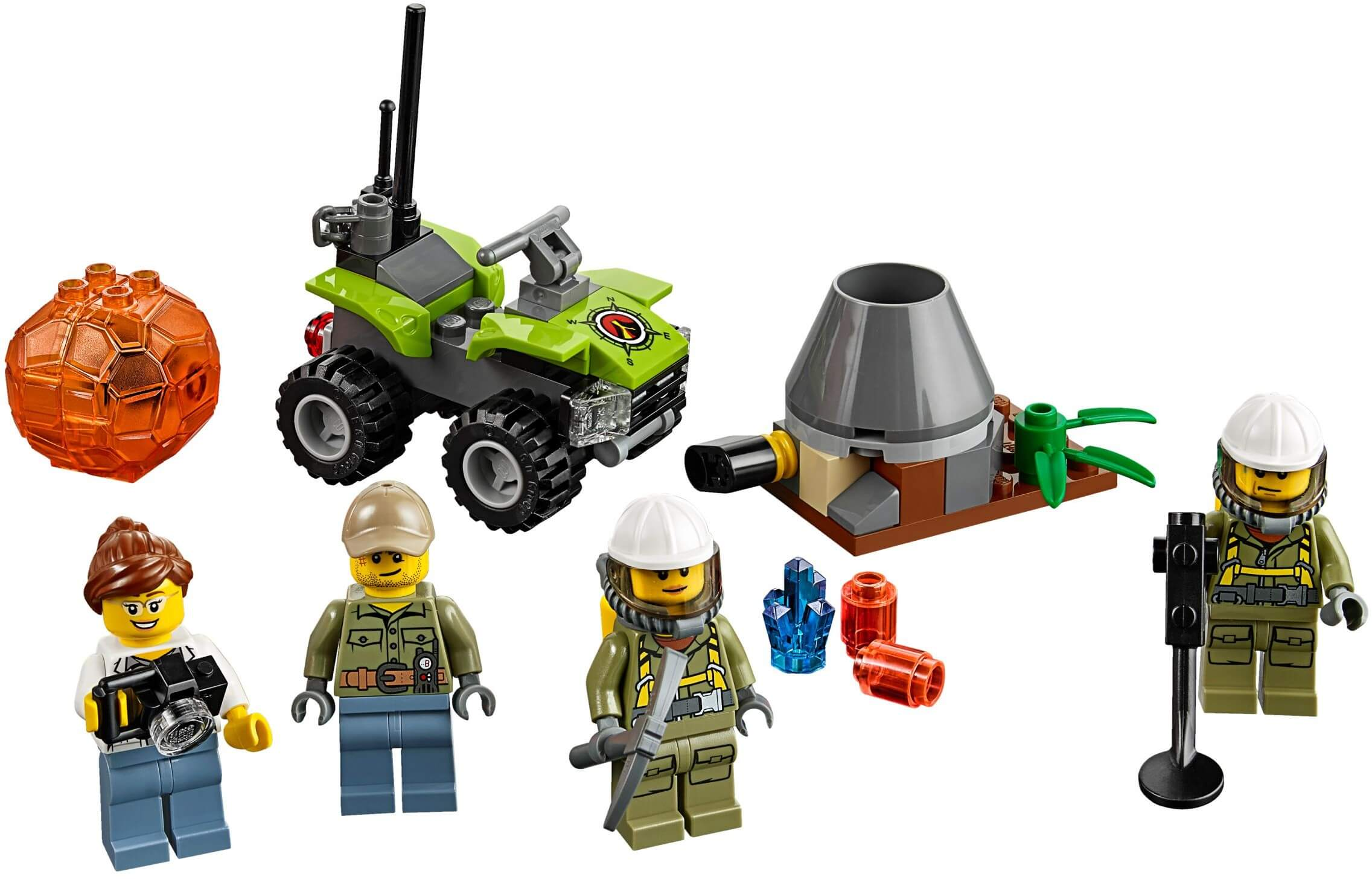 Mua đồ chơi LEGO 60120 - LEGO City 60120 - Đội Thám Hiểm Núi Lửa (LEGO City Volcano Starter Set 60120)