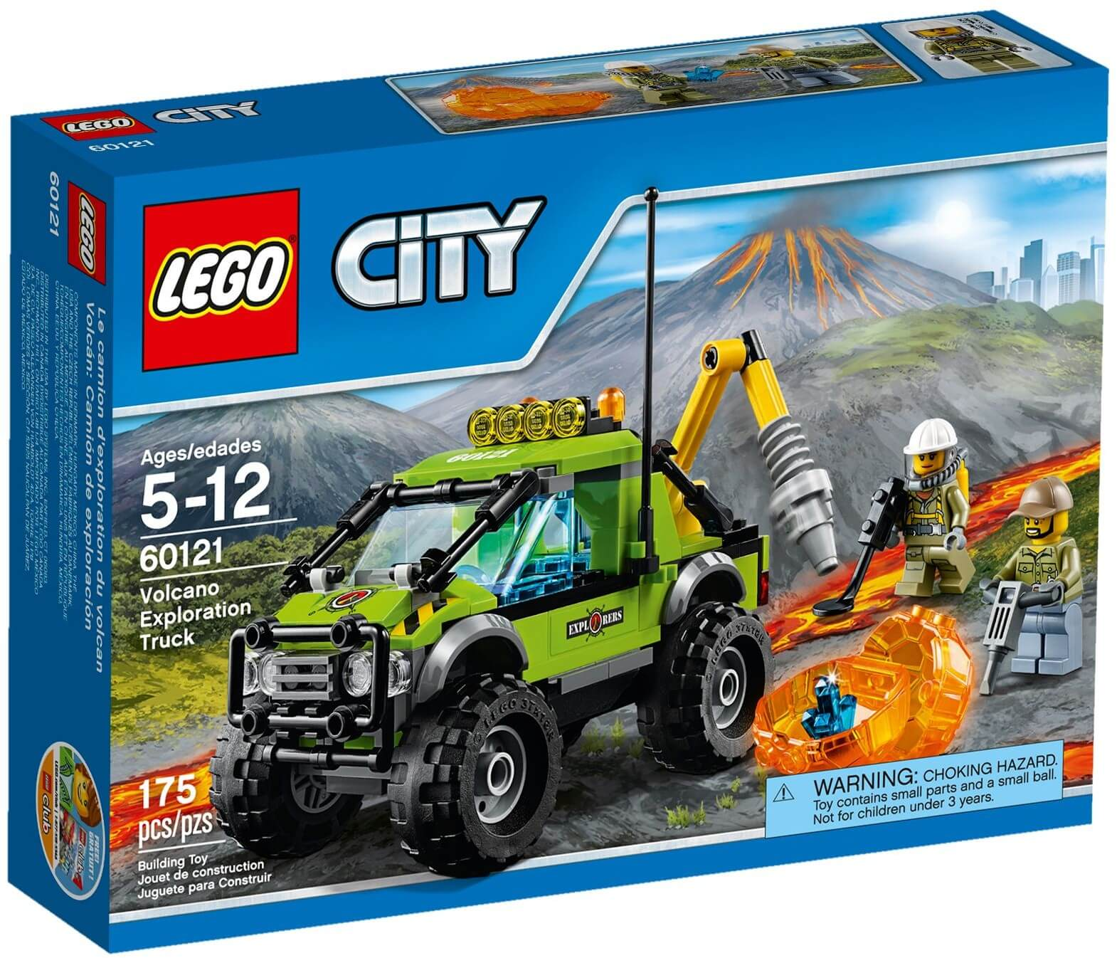 Mua đồ chơi LEGO 60121 - LEGO City 60121 - Xe Tải thám hiểm Núi Lửa (LEGO City Volcano Exploration Truck 60121)