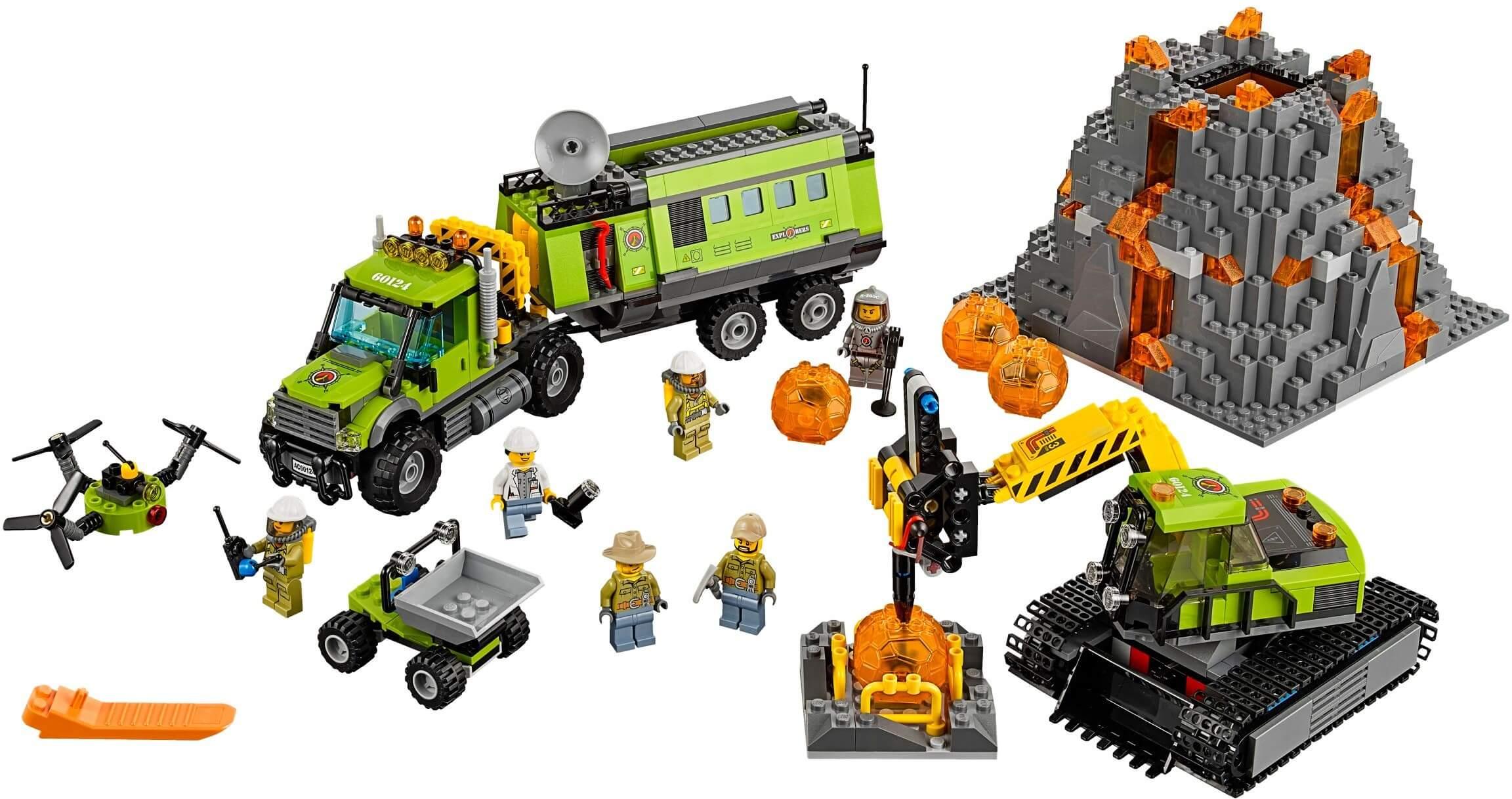 Mua đồ chơi LEGO 60124 - LEGO City 60124 - Trạm Nghiên Cứu Núi Lửa (LEGO City Volcano Exploration Base 60124)