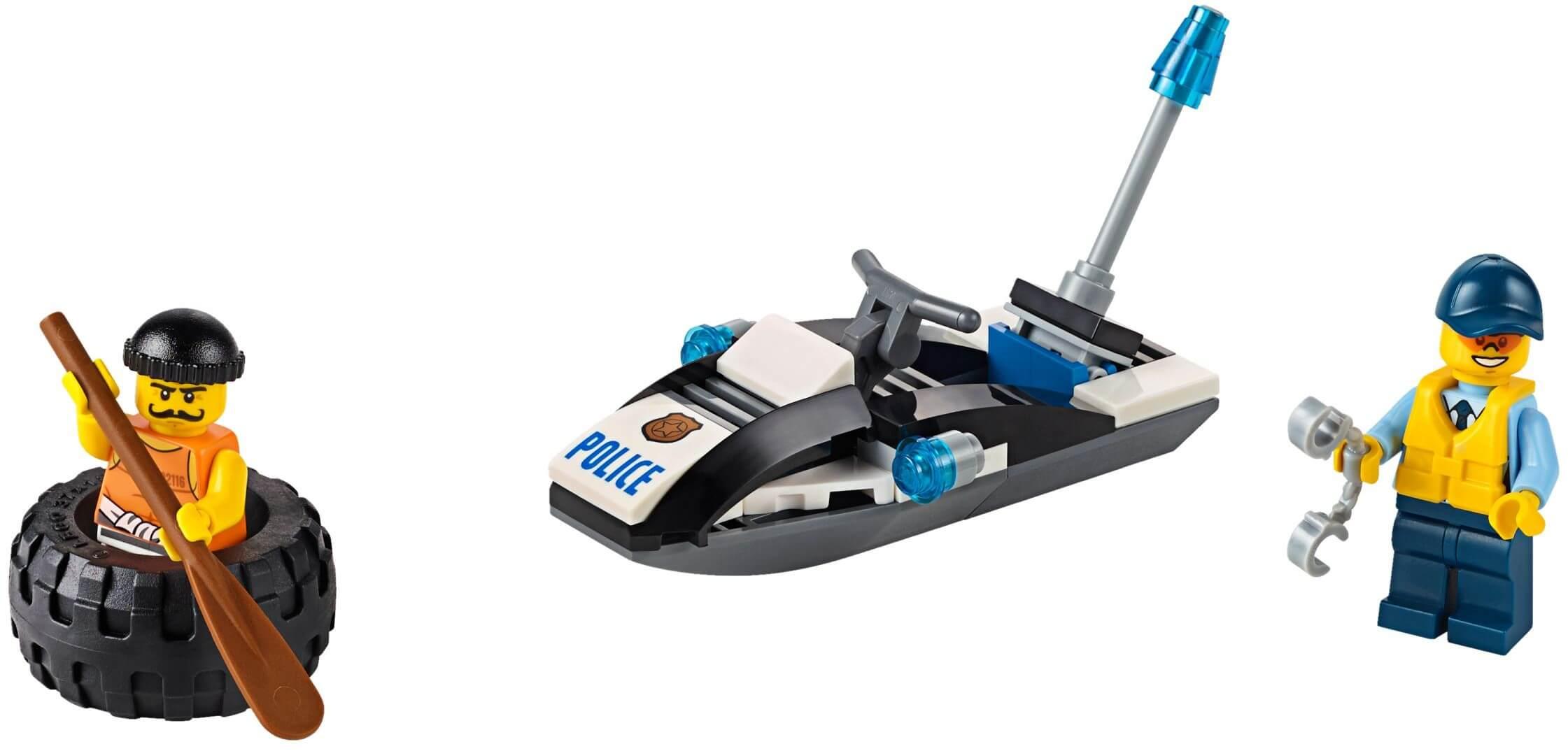 Mua đồ chơi LEGO 60126 - LEGO City 60126 - Ca-nô Cảnh Sát (LEGO City Tire Escape 60126)