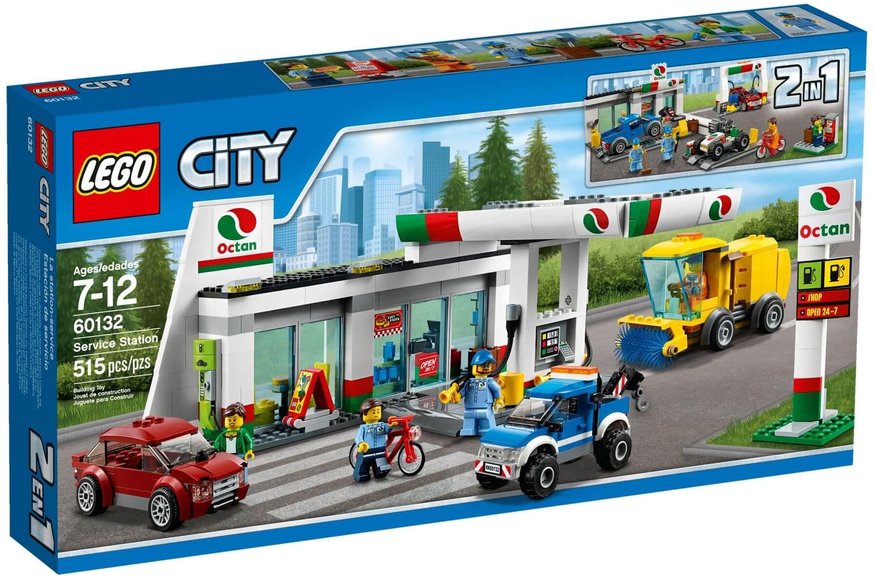 Mua đồ chơi LEGO 60132 - LEGO City 60132 - Trạm Xăng Thành Phố (LEGO City Service Station 60132)
