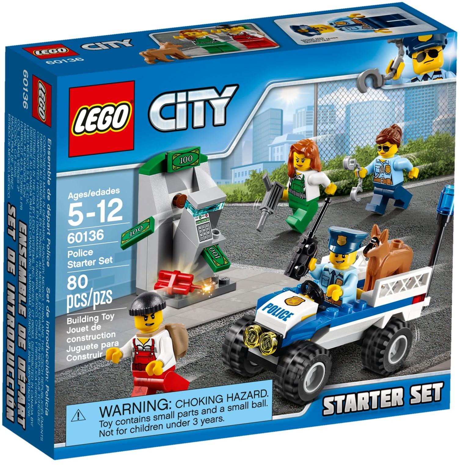 Mua đồ chơi LEGO 60136 - LEGO City 60136 - Biệt Đội Cảnh Sát bắt Cướp (LEGO City Police Starter Set 60136)