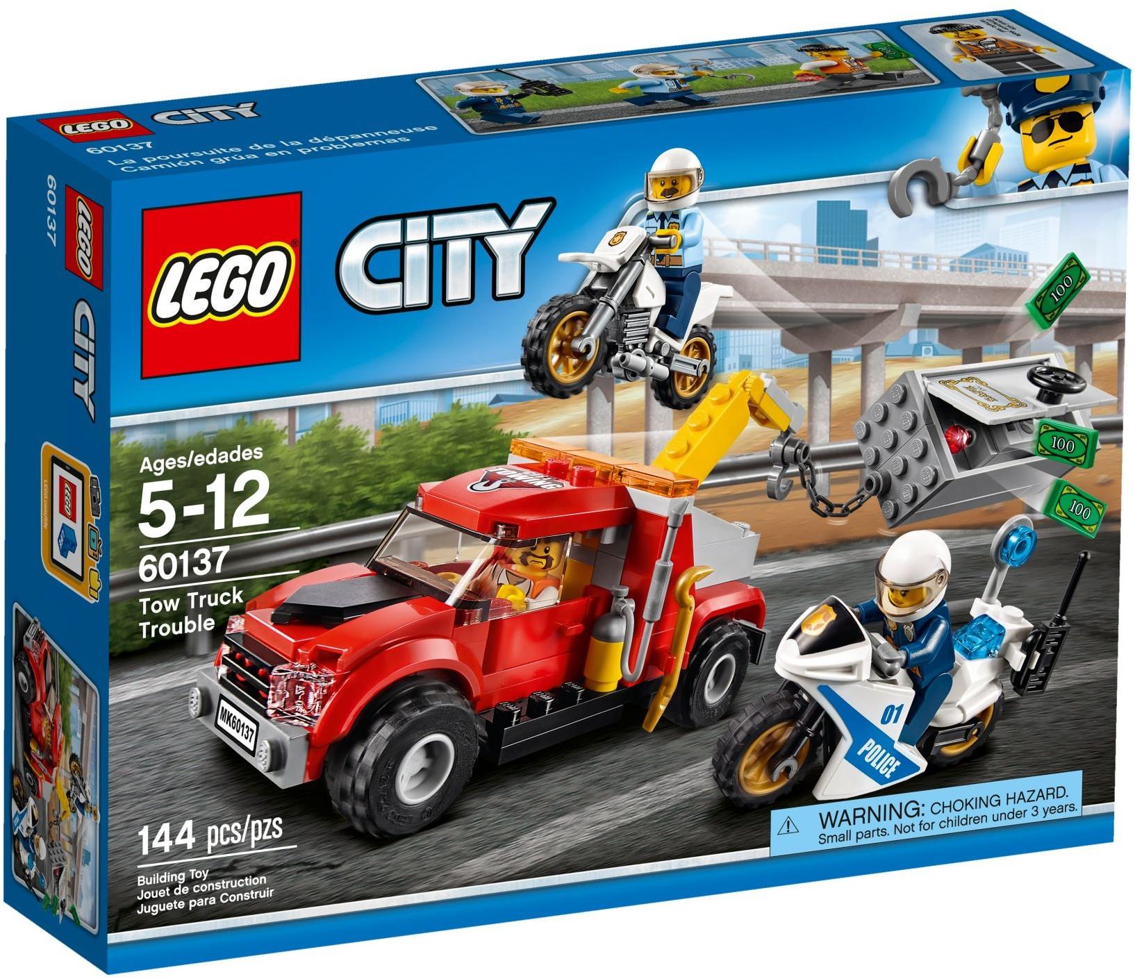 Mua đồ chơi LEGO 60137 - LEGO City 60137 - Mô tô Cảnh Sát bắt Cướp (LEGO City Police Tow Truck Trouble 60137)