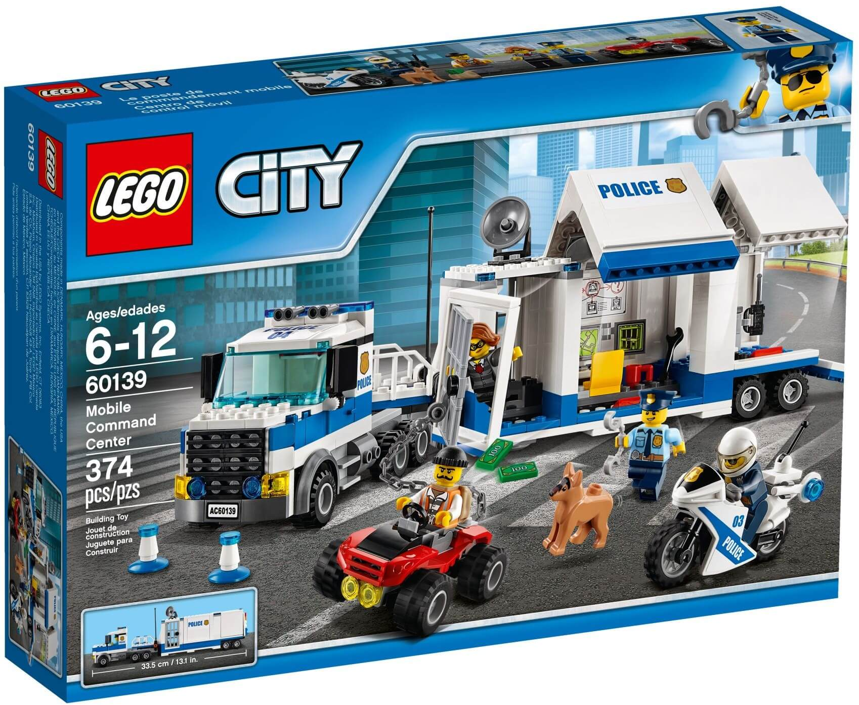 Mua đồ chơi LEGO 60139 - LEGO City 60139 - Xe Tải Cảnh Sát (LEGO 60139 Mobile Command Center)