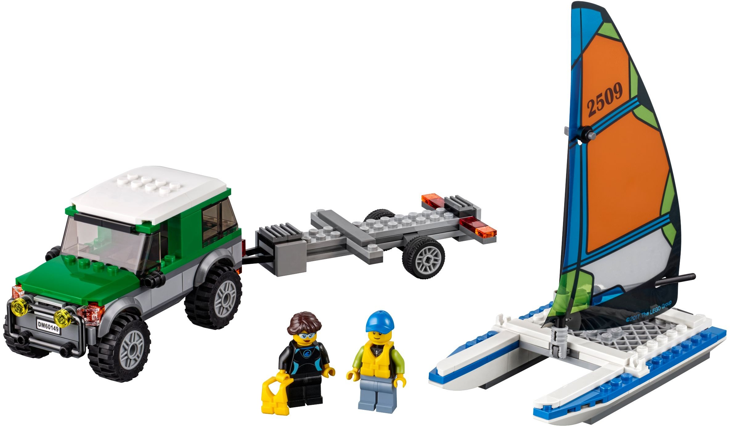 Mua đồ chơi LEGO 60149 - LEGO City 60149 - Xe Tải chở Thuyền Catamaran (LEGO City 4x4 with Catamaran 60149)