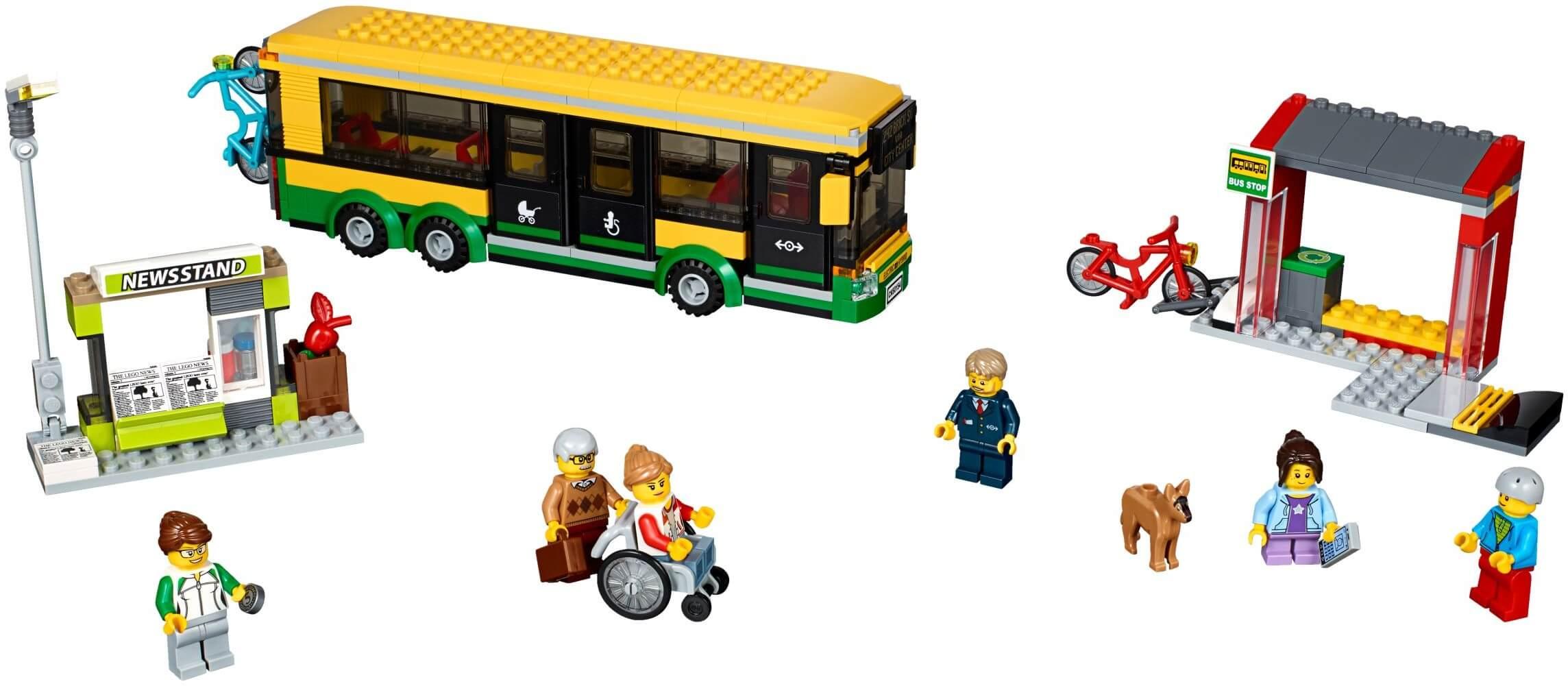 Mua đồ chơi LEGO 60154 - LEGO City 60154 - Trạm Xe Buýt (LEGO City Town Bus Station)