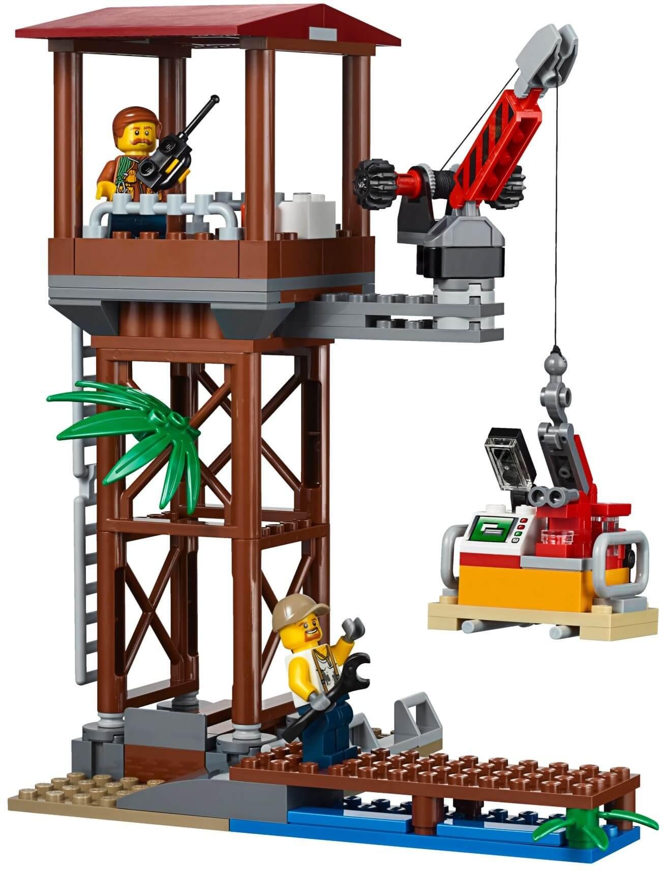 Mua đồ chơi LEGO 60162 - LEGO City 60162 - Đội Trực Thăng Vận Chuyển Rừng (LEGO City Jungle Air Drop Helicopter)