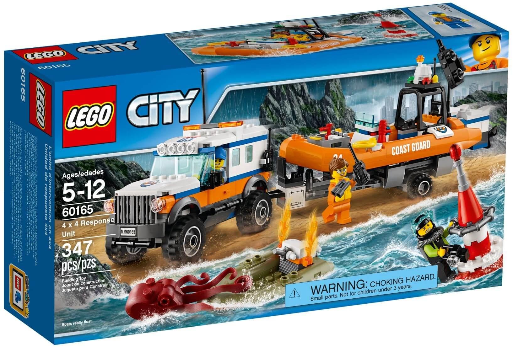 Mua đồ chơi LEGO 60165 - LEGO City 60165 - Đội ca nô cứu hộ bờ Biển (LEGO 60165 4 x 4 Response Unit)