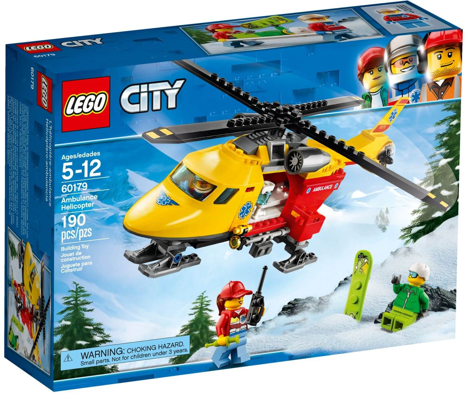 Mua đồ chơi LEGO 60179 - LEGO City 60179 - Trực Thăng Cứu Hộ (LEGO City 60179 Ambulance Helicopter)