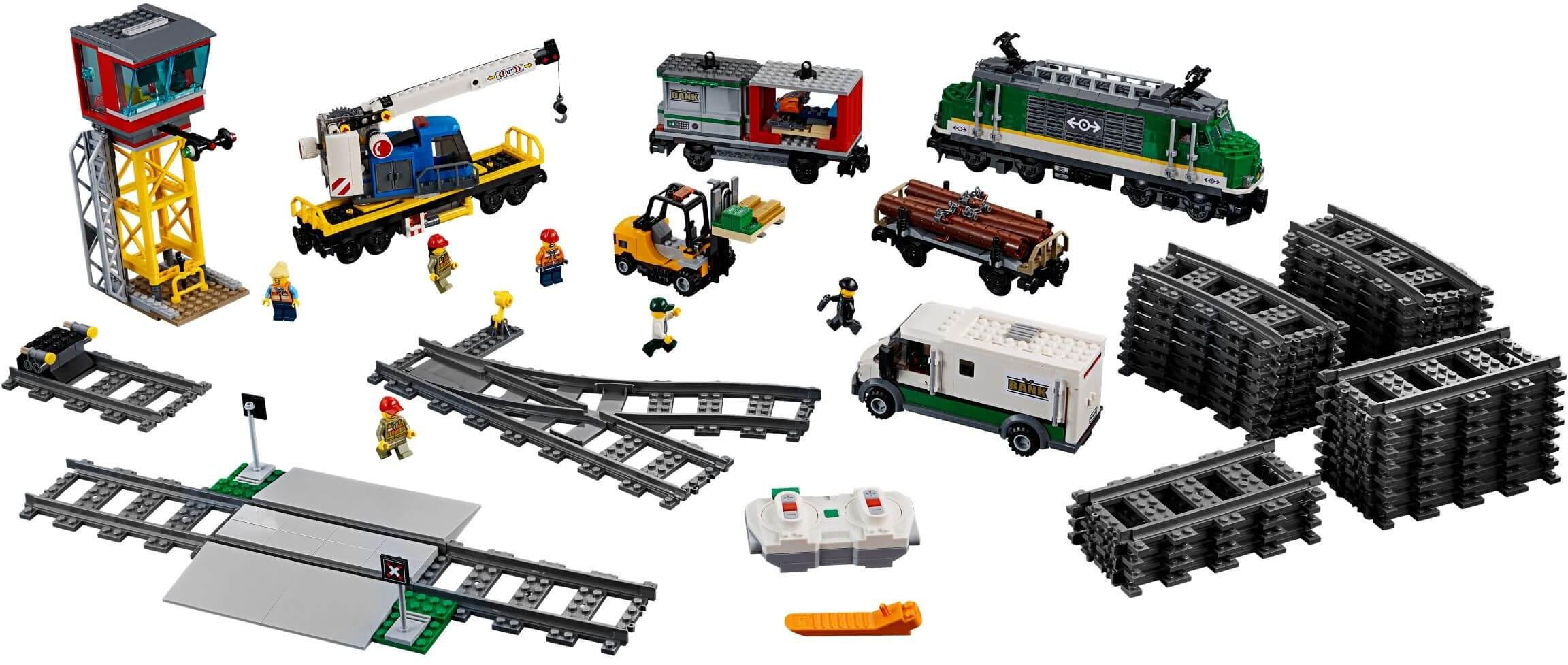 Mua đồ chơi LEGO 60198 - LEGO City 60198 - Xe Lửa chở hàng Điều Khiển Từ Xa (LEGO 60198 Cargo Train)