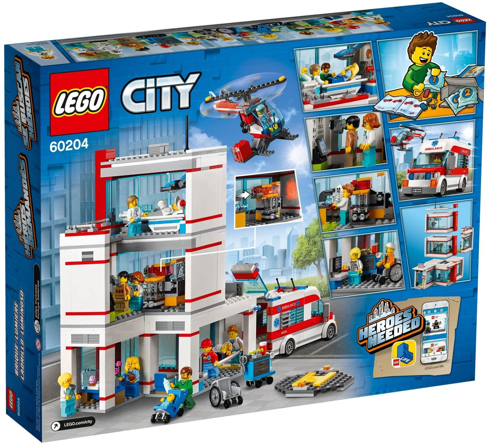 Mua đồ chơi LEGO 60204 - LEGO City 60204 - Bệnh Viện Thành Phố (LEGO 60204 City Hospital)