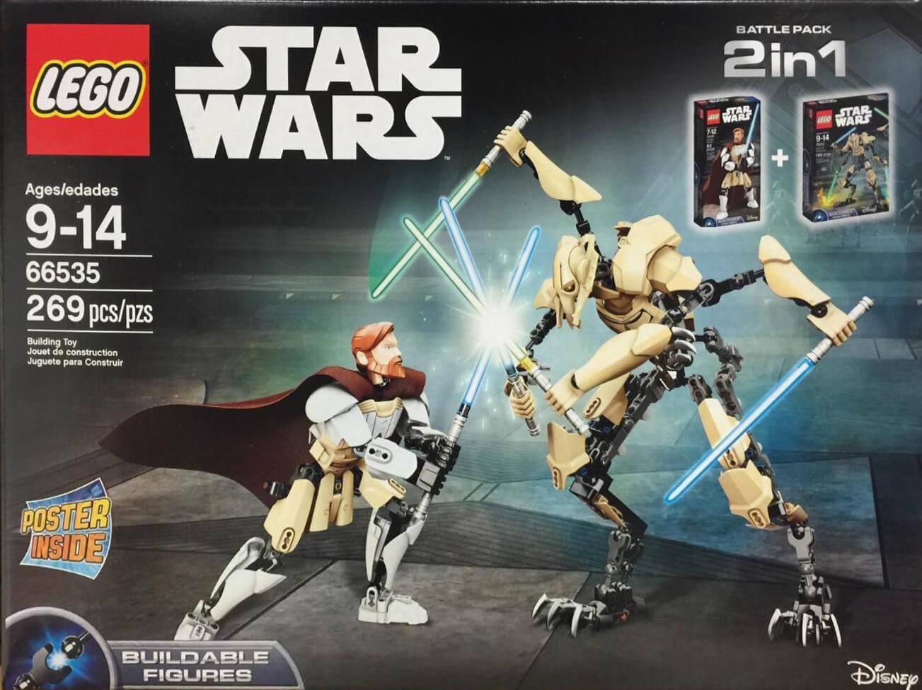 Mua đồ chơi LEGO 66535 - LEGO Star Wars 66535 - Grievous đại chiến Obi-Wan Kenobi (LEGO Star Wars 66535 Battle Pack 2 in 1: Grievous vs. Obi-Wan Kenobi, Mã: 66535)